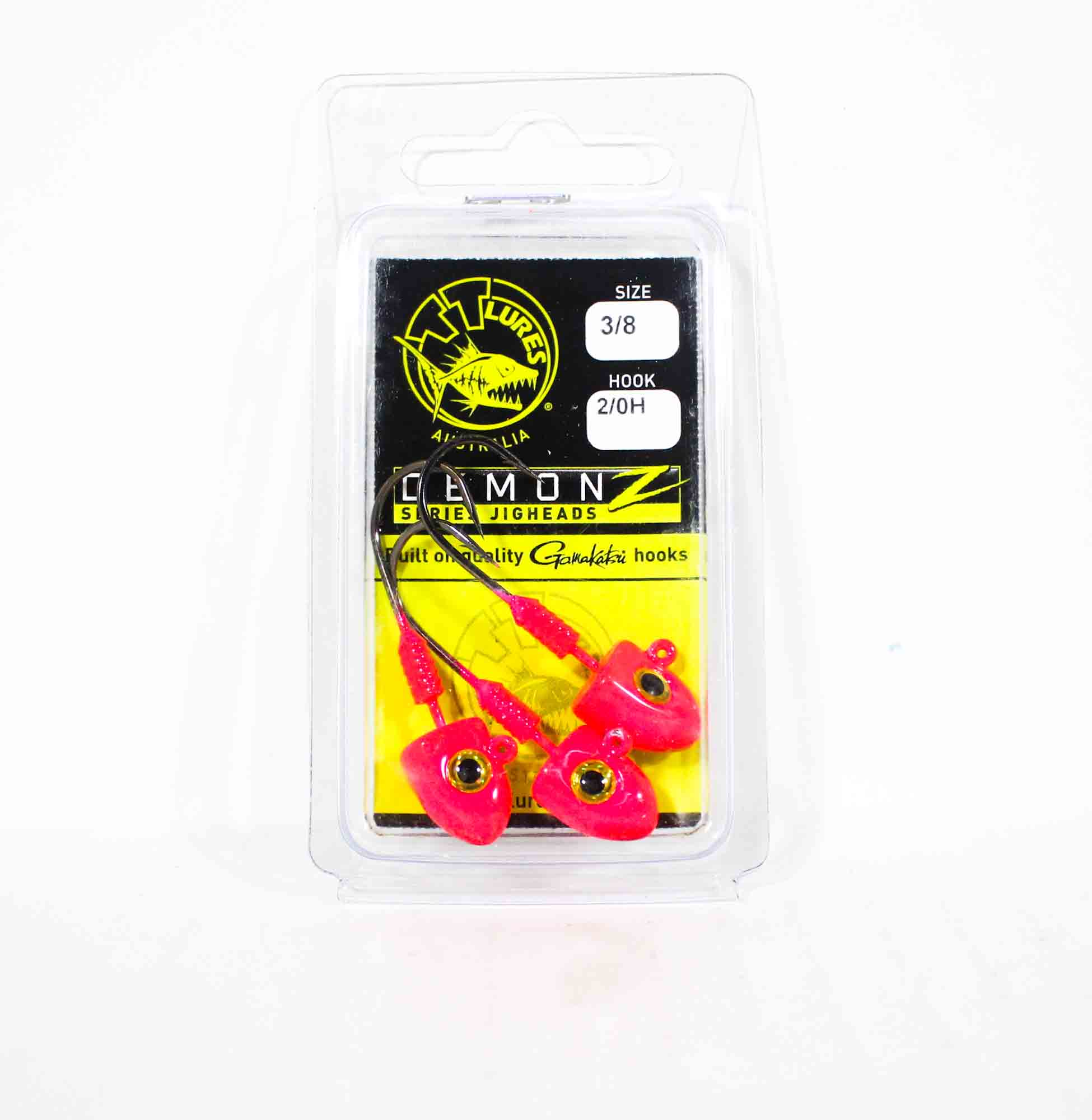 Tackle Tactics TT Demonz Jig Head 3/8oz 2/0H 3 per pack Pink (7167)