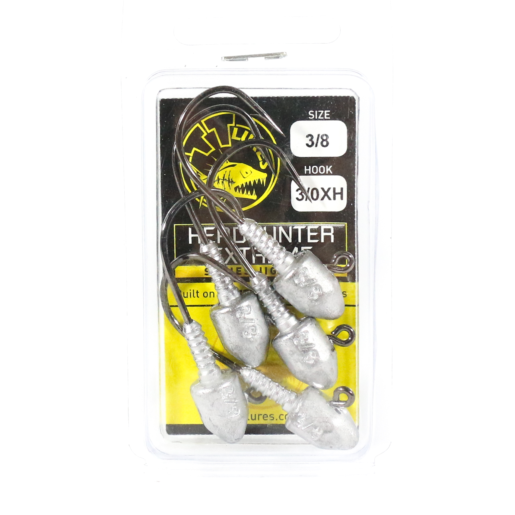 Tackle Tactics TT Head Hunter Extreme Jig Head 3/8 oz 3/0 XH 5 per pack (1302)