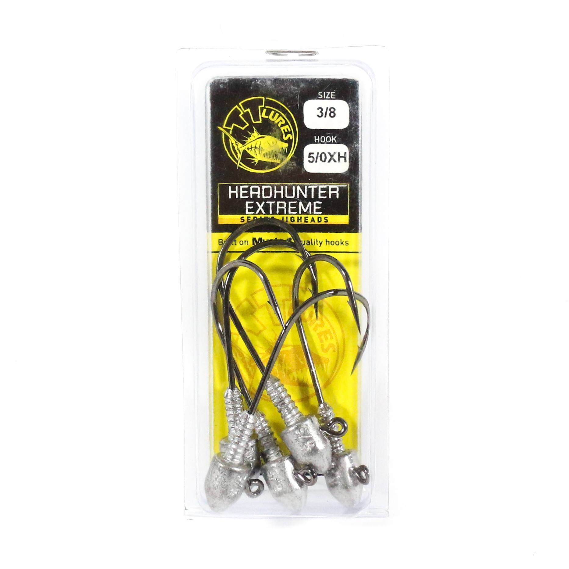 Tackle Tactics TT Head Hunter Extreme Jig Head 3/8 oz 5/0 XH 5 per pack (1319)