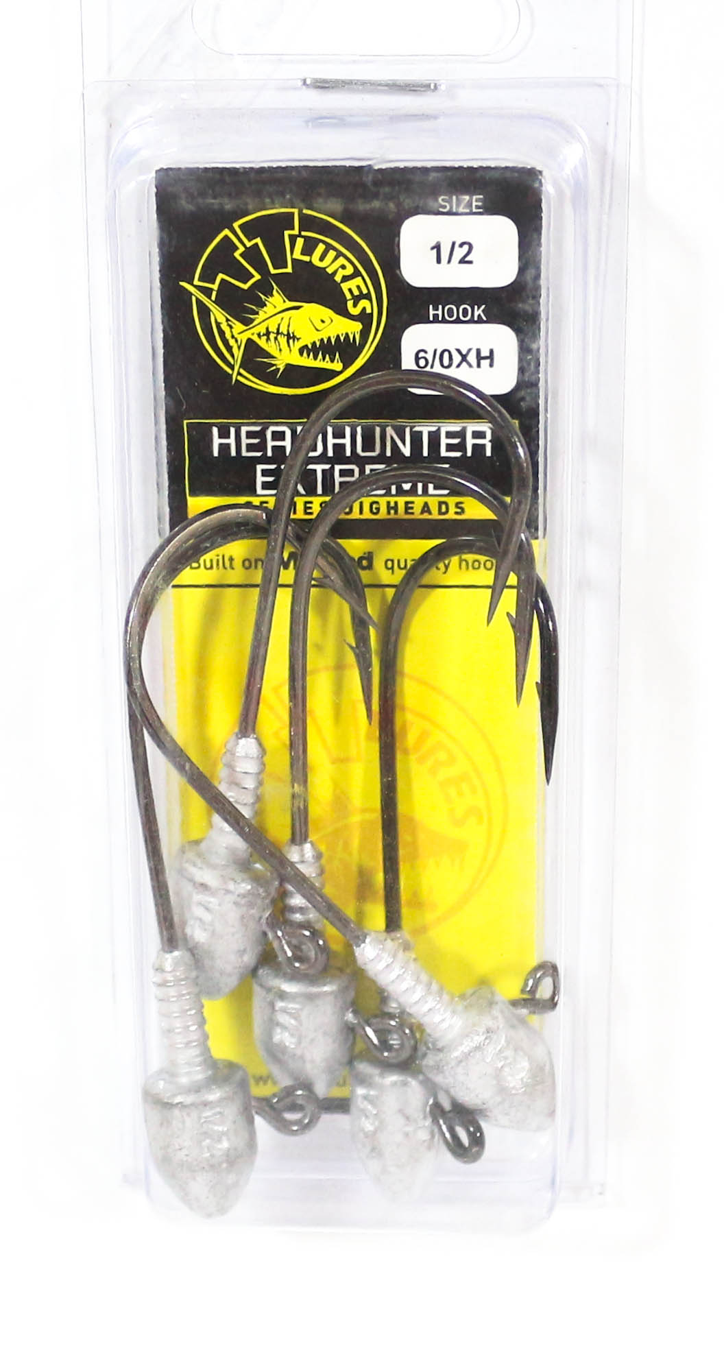 Tackle Tactics TT Head Hunter Extreme Jig Head 1/2 oz 6/0 XH 5 per pack (1357)