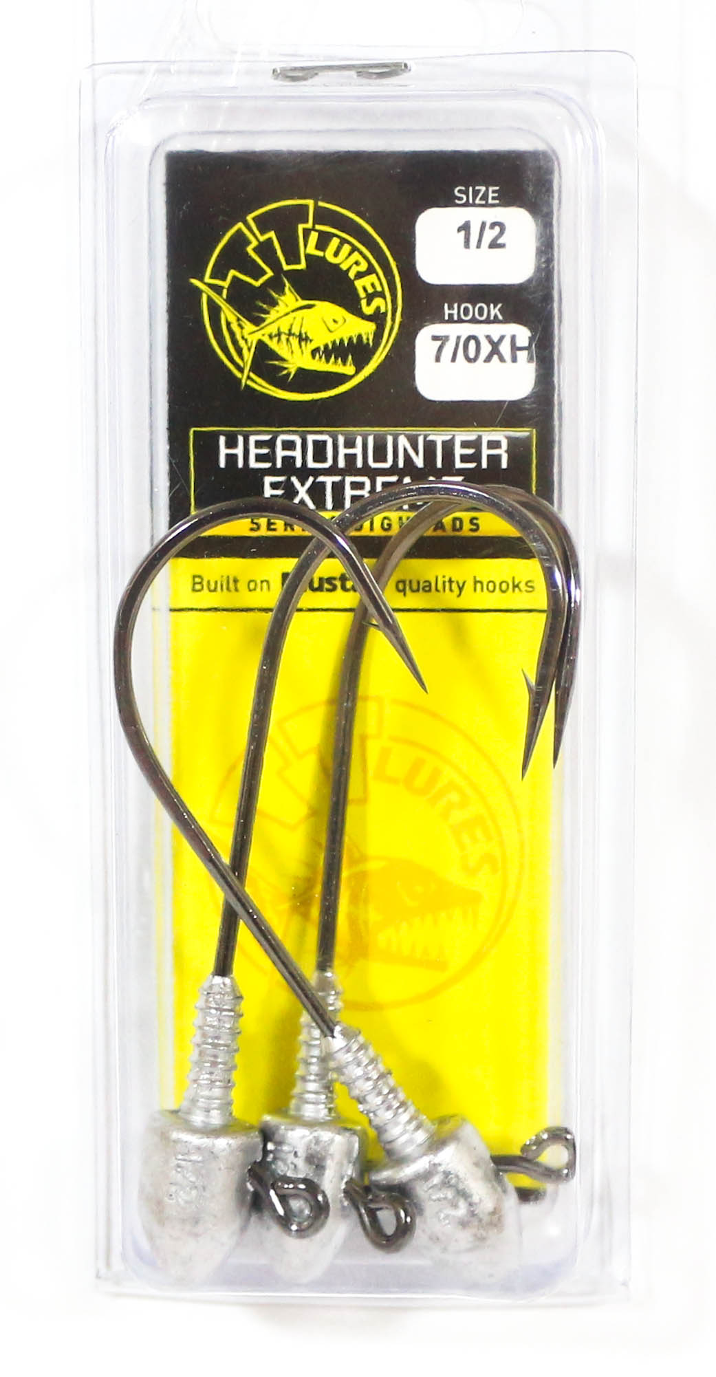 Tackle Tactics TT Head Hunter Extreme Jig Head 1/2 oz 7/0 XH 3 per pack (1883)