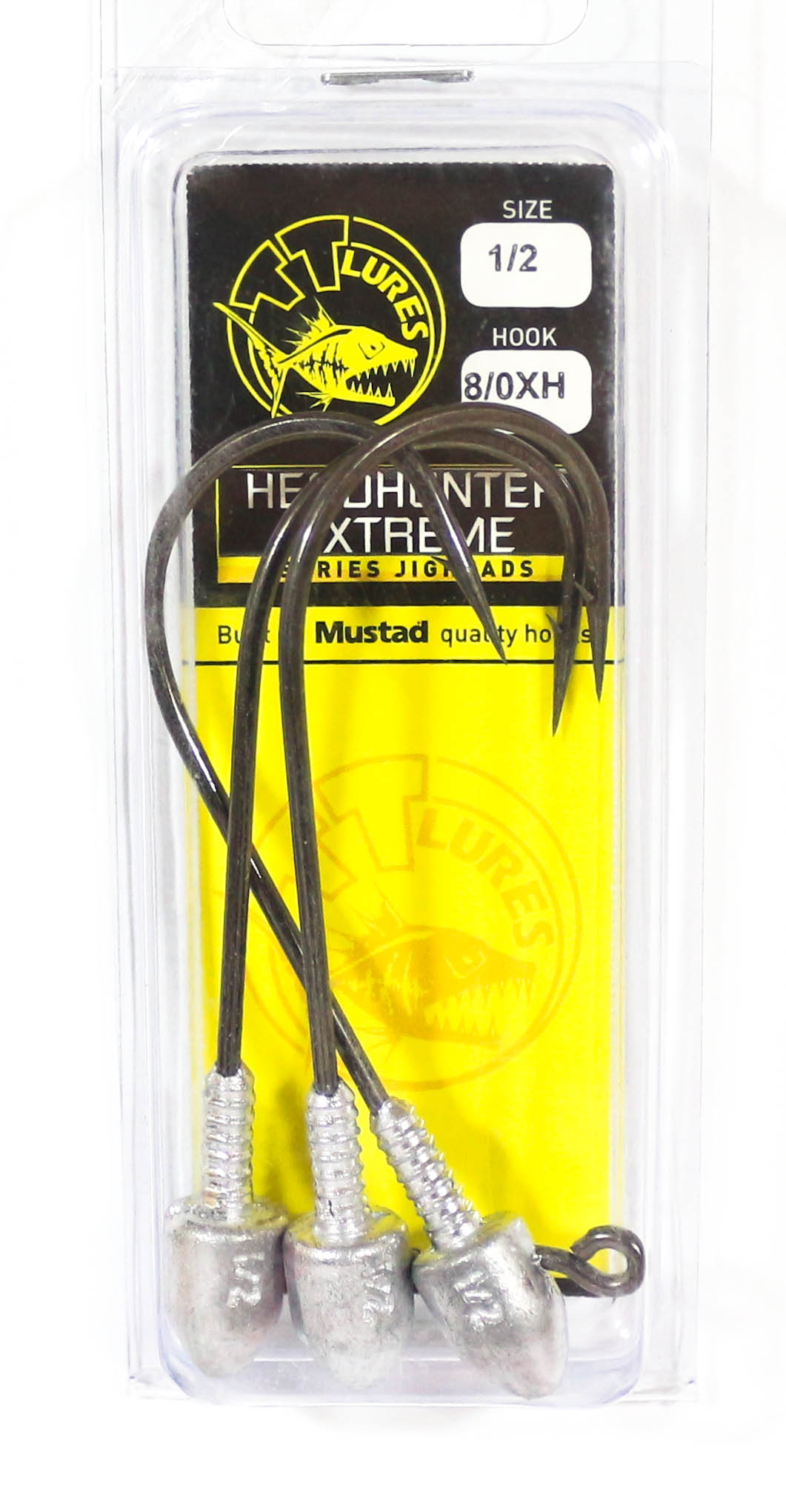 Tackle Tactics TT Head Hunter Extreme Jig Head 1/2 oz 8/0 XH 3 per pack (1890)
