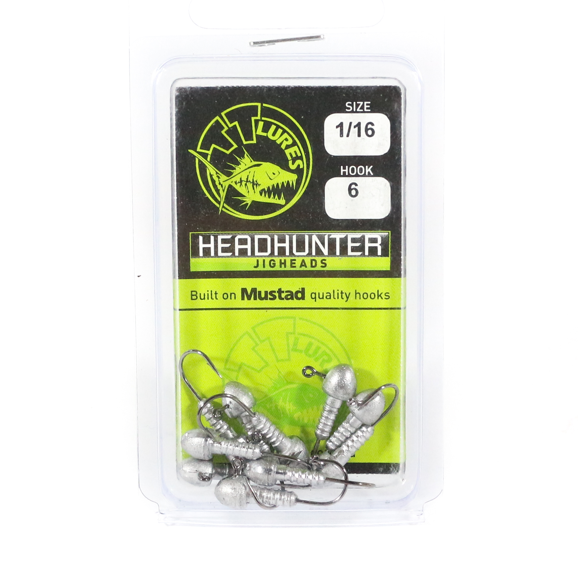 Tackle Tactics TT Head Hunter Jig Head 1/16 oz 6 10 per pack (1036)