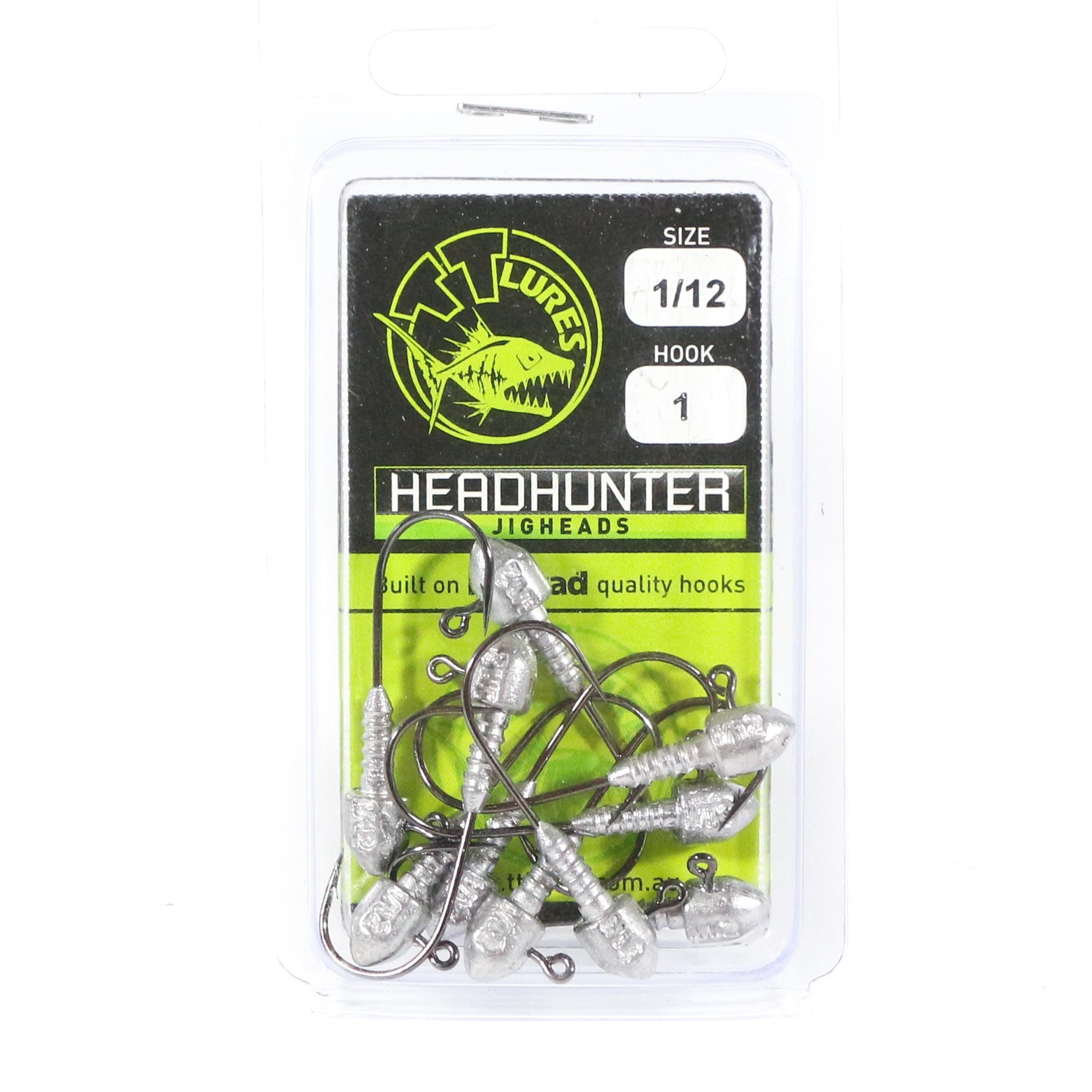 Tackle Tactics TT Head Hunter Jig Head 1/12 oz 1 10 per pack (1081)