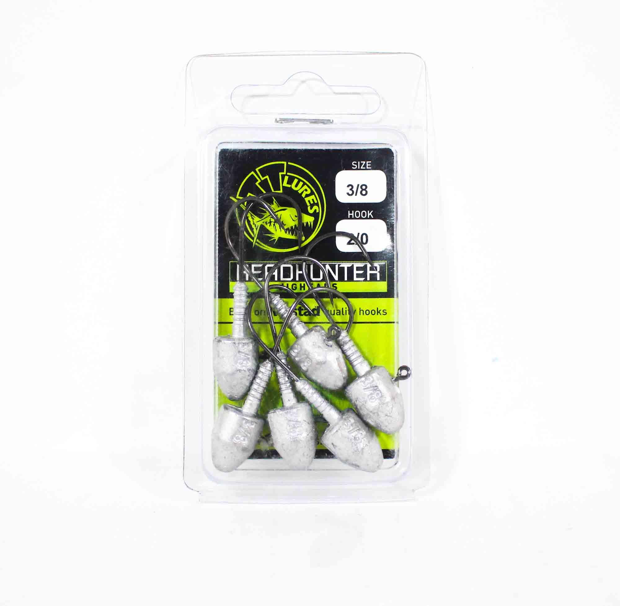 Tackle Tactics TT Head Hunter Jig Head 3/8 oz 2/0 6 per pack (1197)