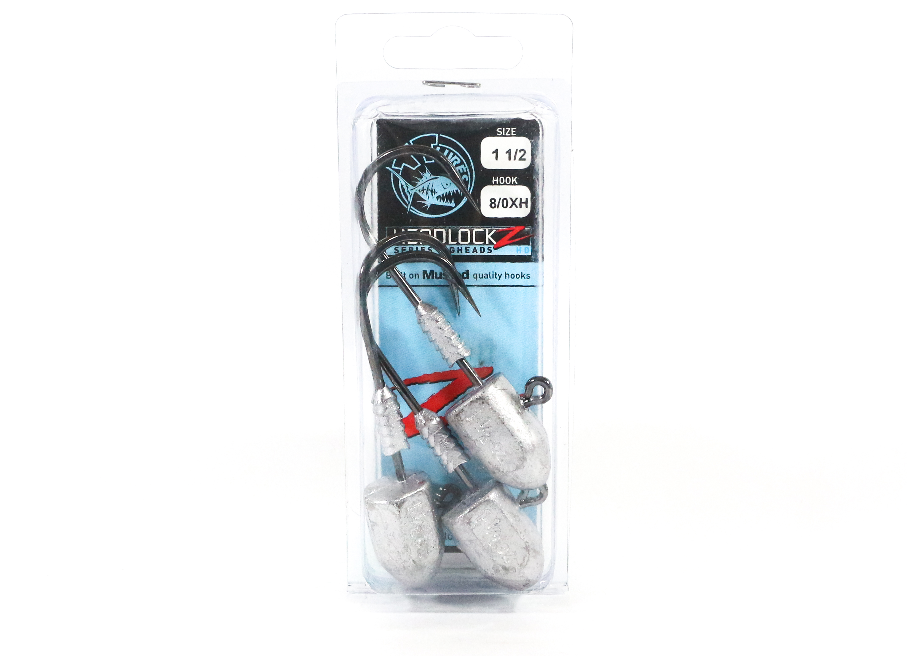 Tackle Tactics TT Headlockz HD Jig Head 1 1/2 oz 8/0 XH 3 per pack (3351)