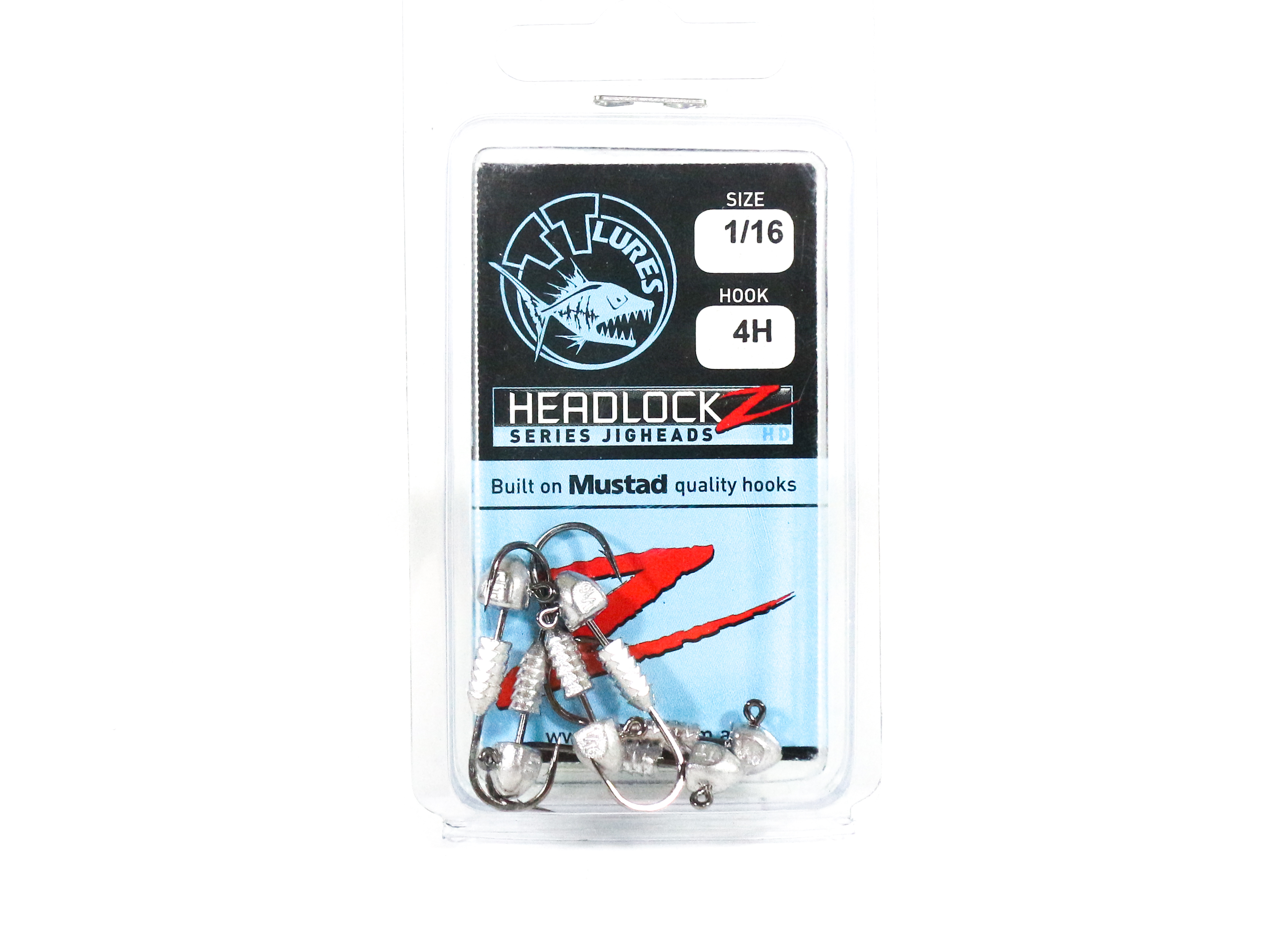 Tackle Tactics TT Headlockz HD Jig Head 1/16 oz 4 H 6 per pack (3481)