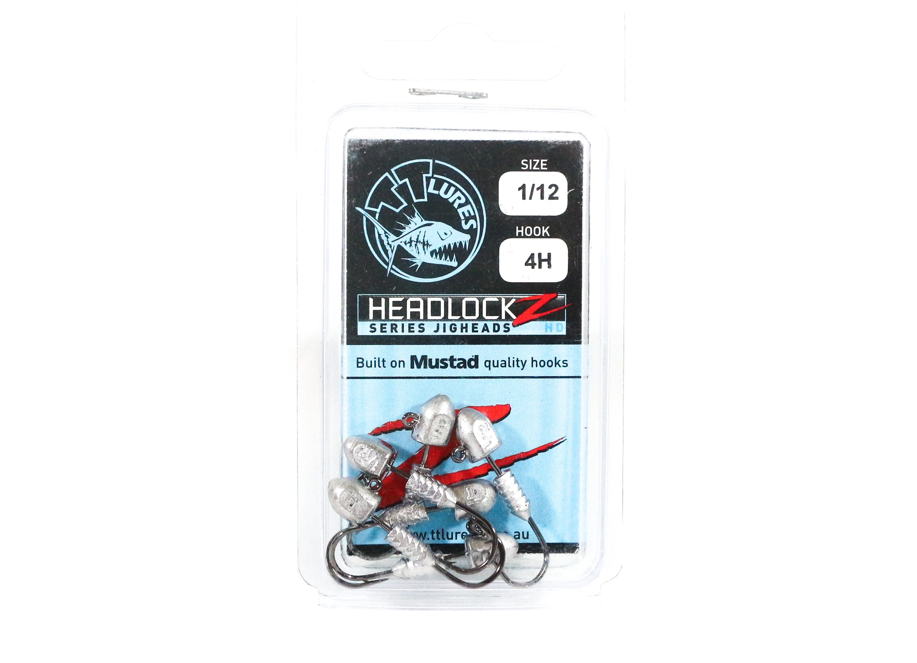 Tackle Tactics TT Headlockz HD Jig Head 1/12 oz 4 H 6 per pack (3498)