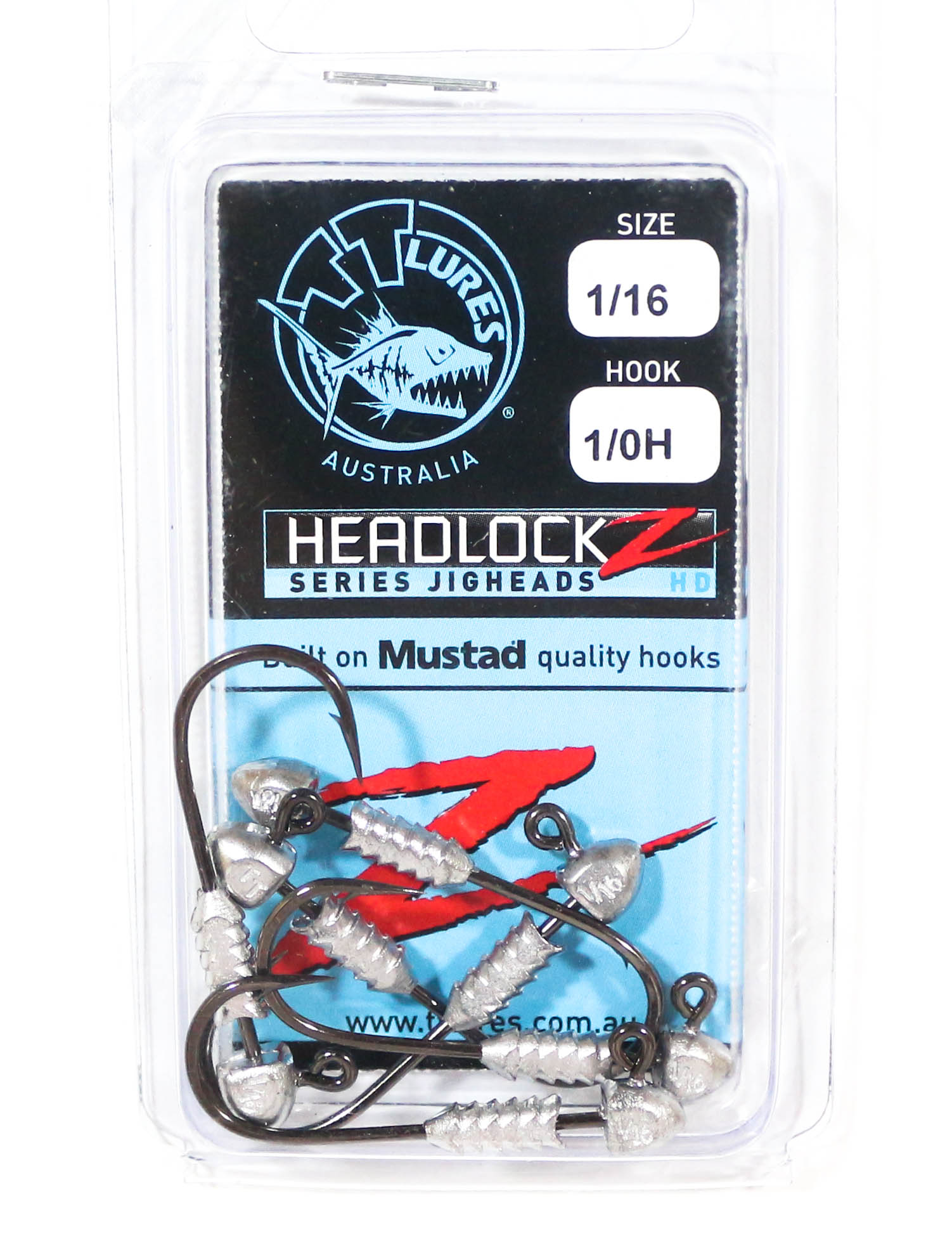 Tackle Tactics TT Headlockz HD Jig Head 1/16 oz 1/0 6 per pack (3542)