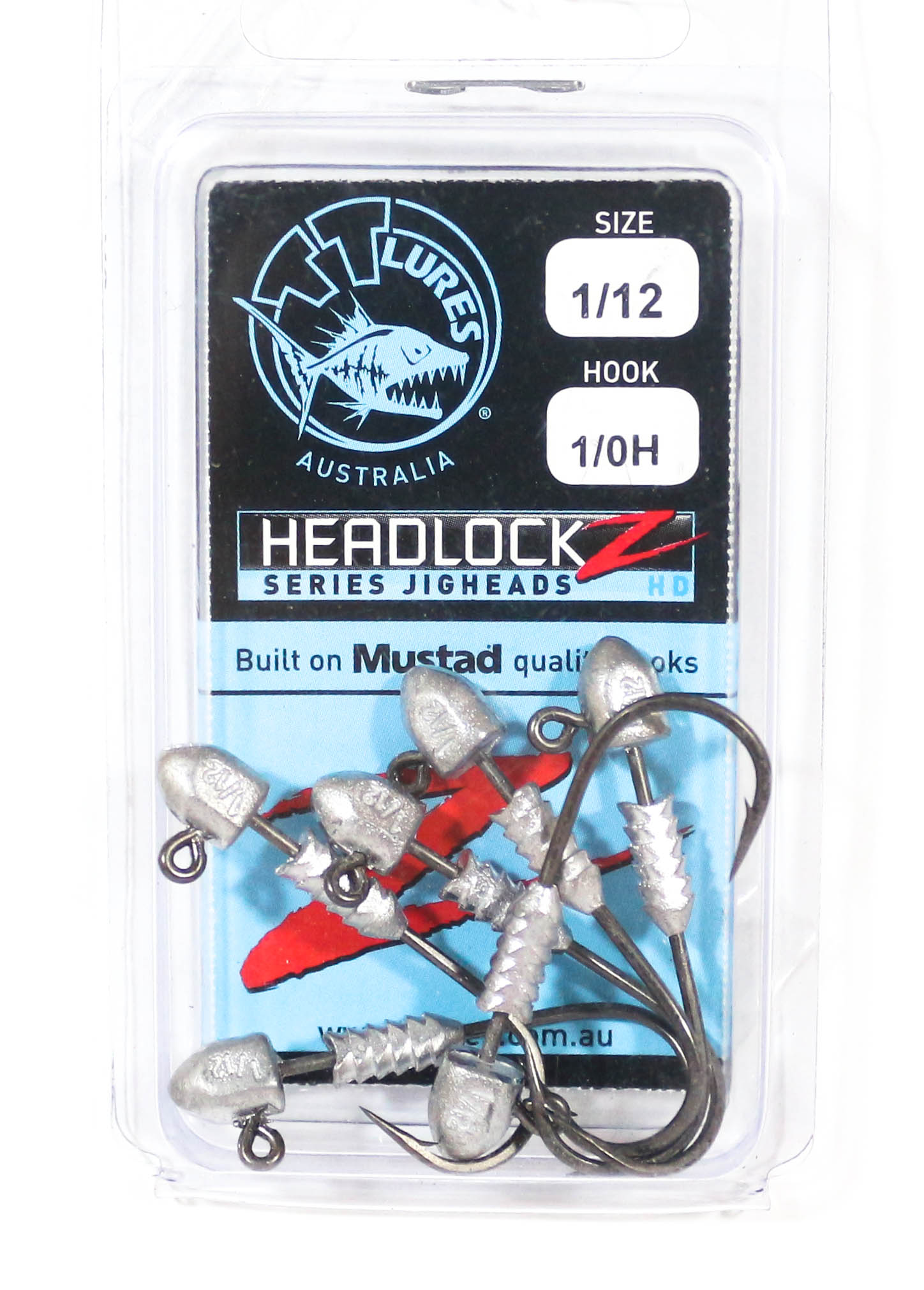 Tackle Tactics TT Headlockz HD Jig Head 1/12 oz 1/0 6 per pack (3573)