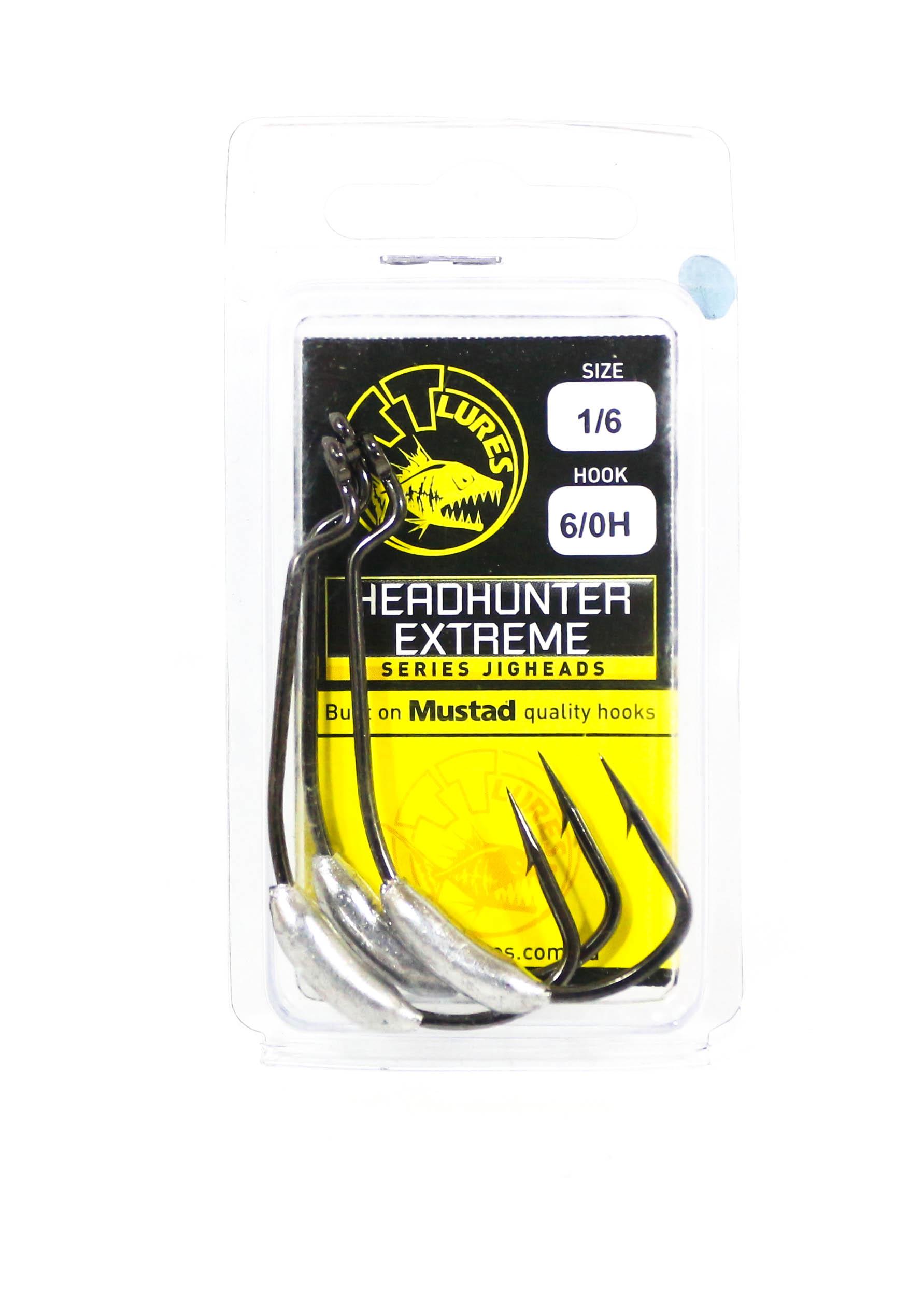 Tackle Tactics TT Head Hunter Extreme SWS Hook 1/6 oz 6/0 XH 3 per pack (1968)