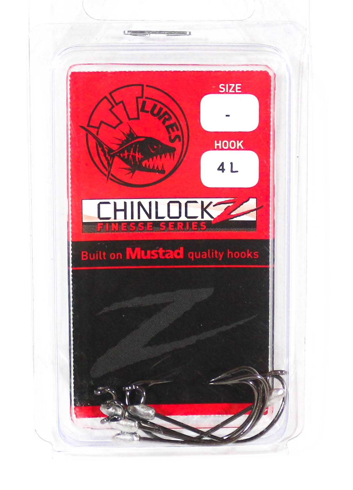 Tackle Tactics TT ChinlockZ Finesse Worm Hook 4 5 per pack (2705)