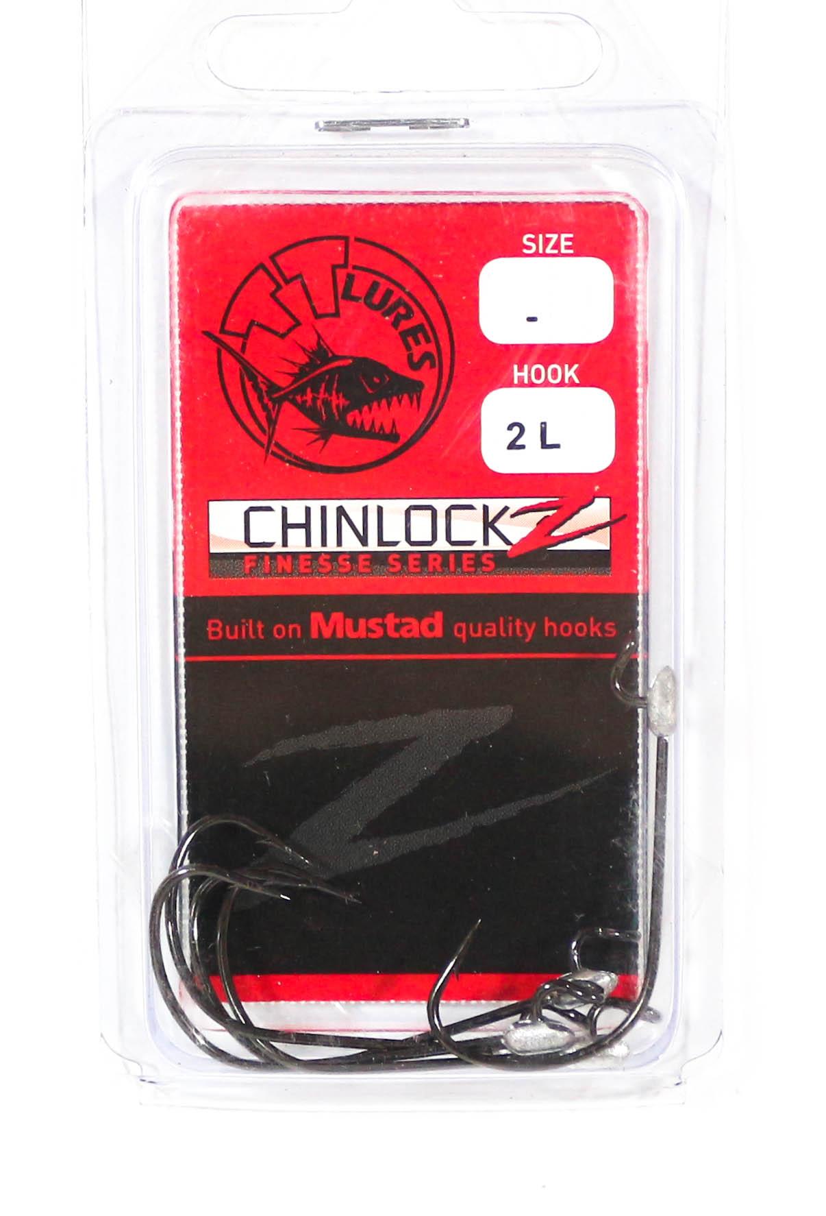 Tackle Tactics TT ChinlockZ Finesse Worm Hook 2 5 per pack (2712)