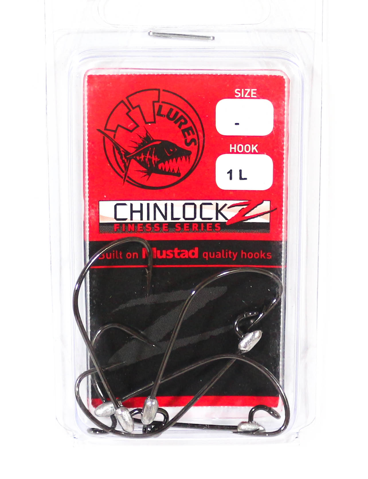 Tackle Tactics TT ChinlockZ Finesse Worm Hook 1 5 per pack (2729)