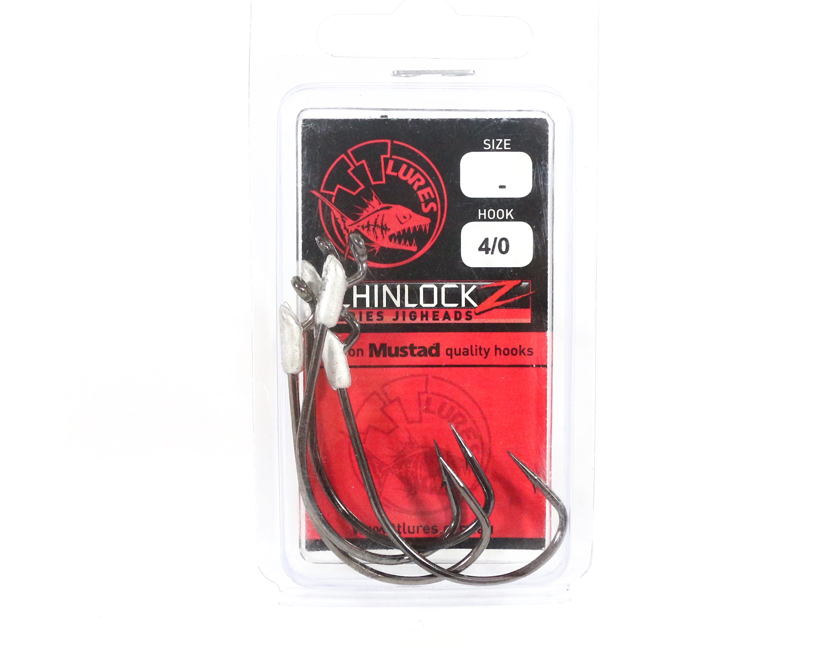 Tackle Tactics TT ChinlockZ Unweighted Worm Hook 4/0 4 per pack (0916)