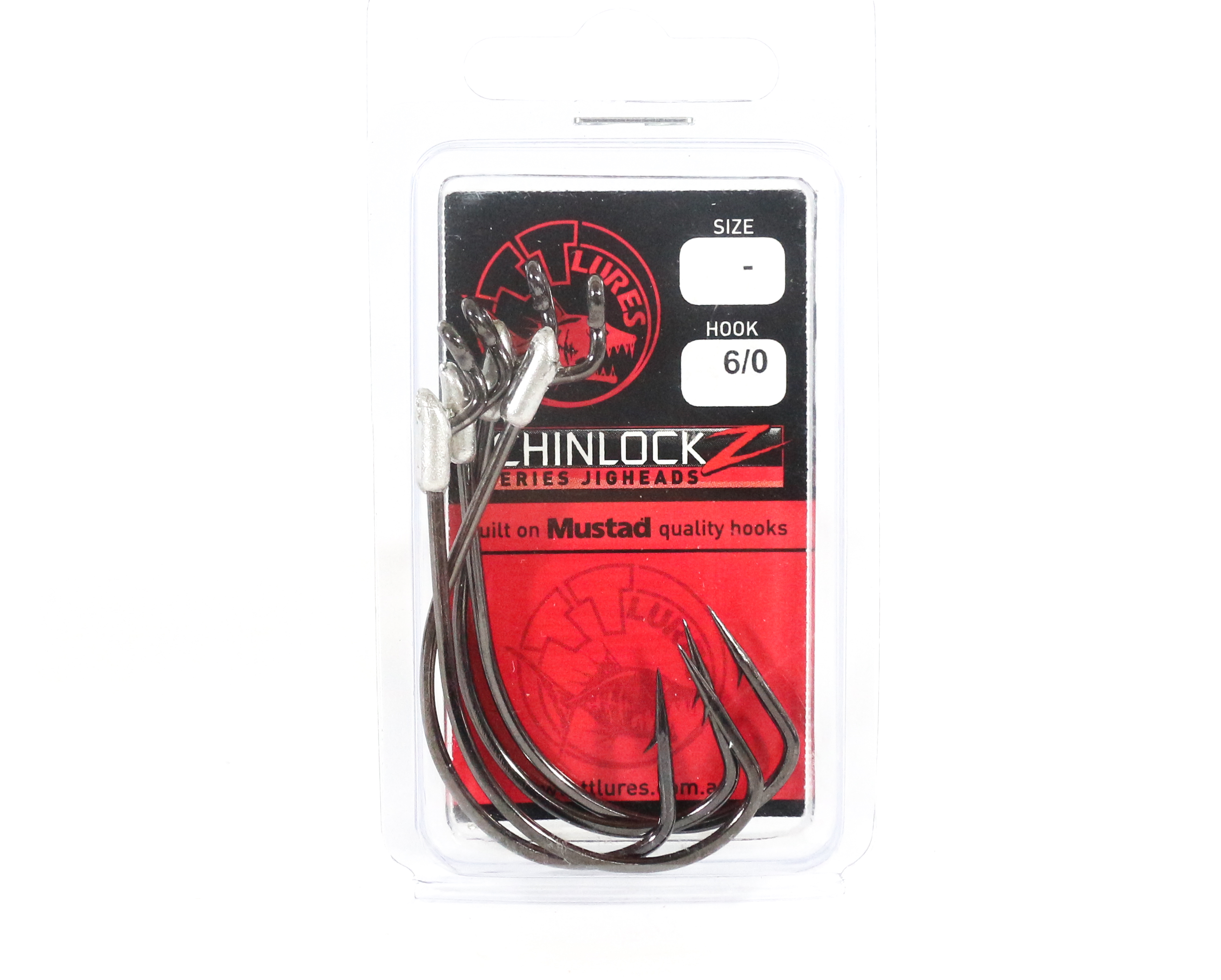 Tackle Tactics TT ChinlockZ Unweighted Worm Hook 6/0 4 per pack (0923)
