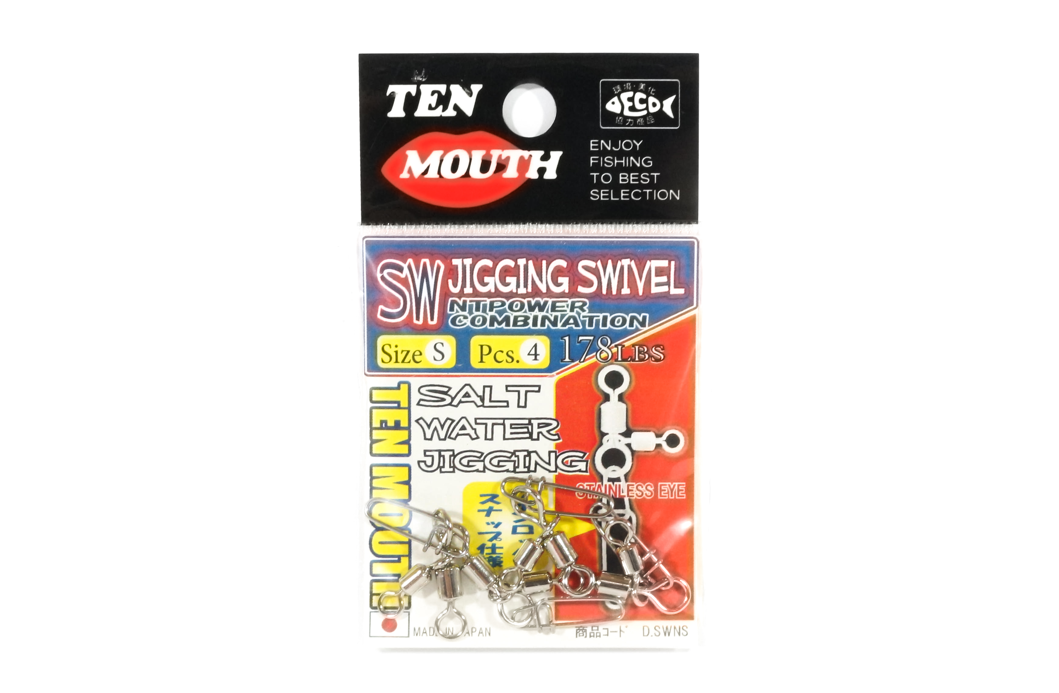 Ten Mouth Swivel SW Jigging Swivel D.SWN Size S (8933)