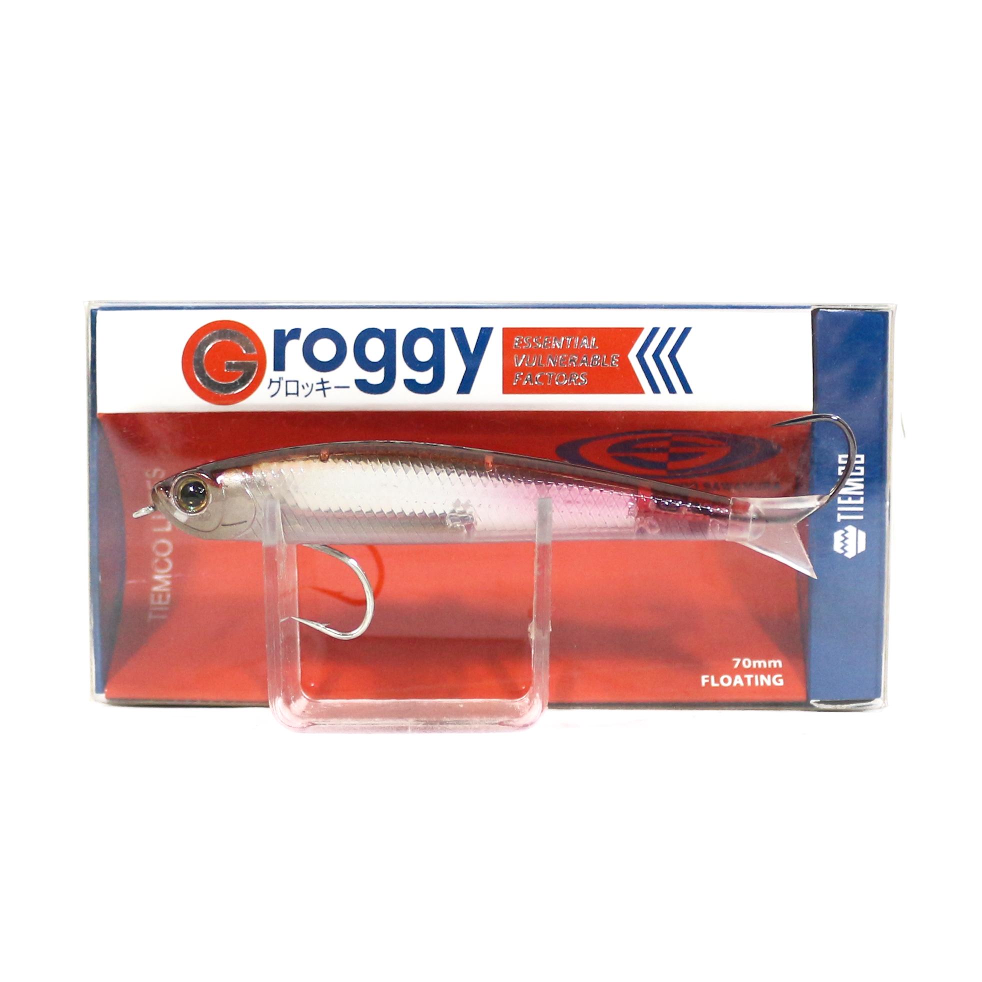 Sale Tiemco Groggy Lipless Minnow 70F Floating Lure G70F-08 (3320)