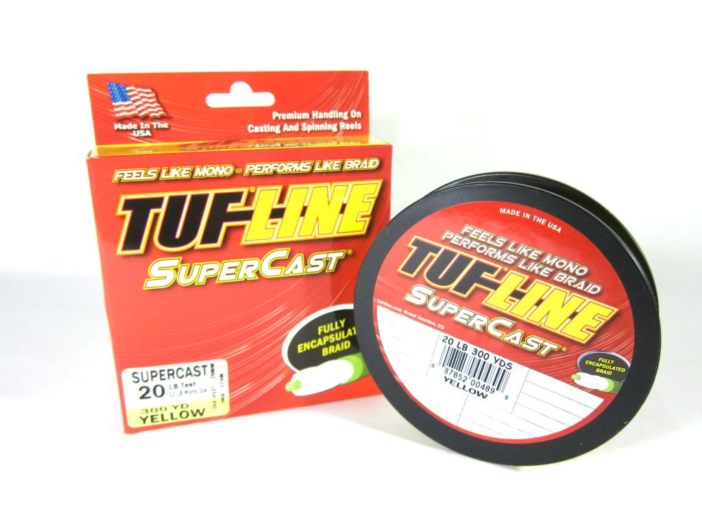 Sale Tuf Line Super Cast Braided Spectra Line 8lb 300yds Yellow (4592)