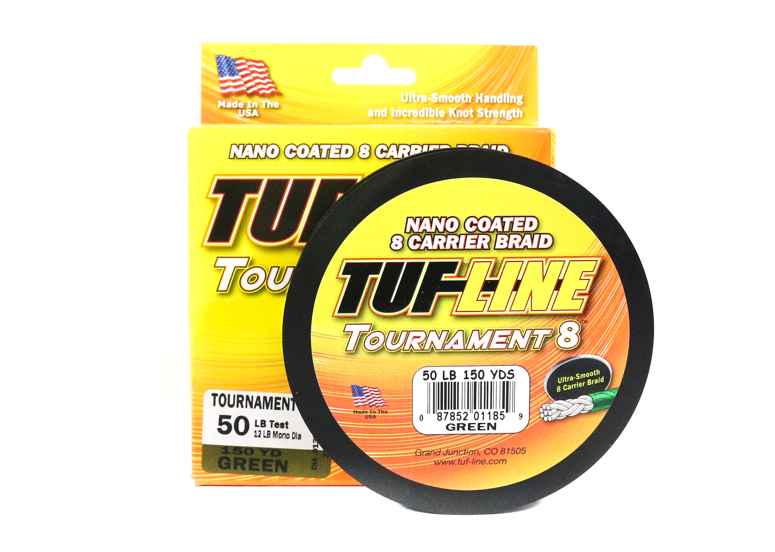 Sale Tuf Line Tournament 8 Nano Coated Braided Line 50lb 150yds Green (1859)