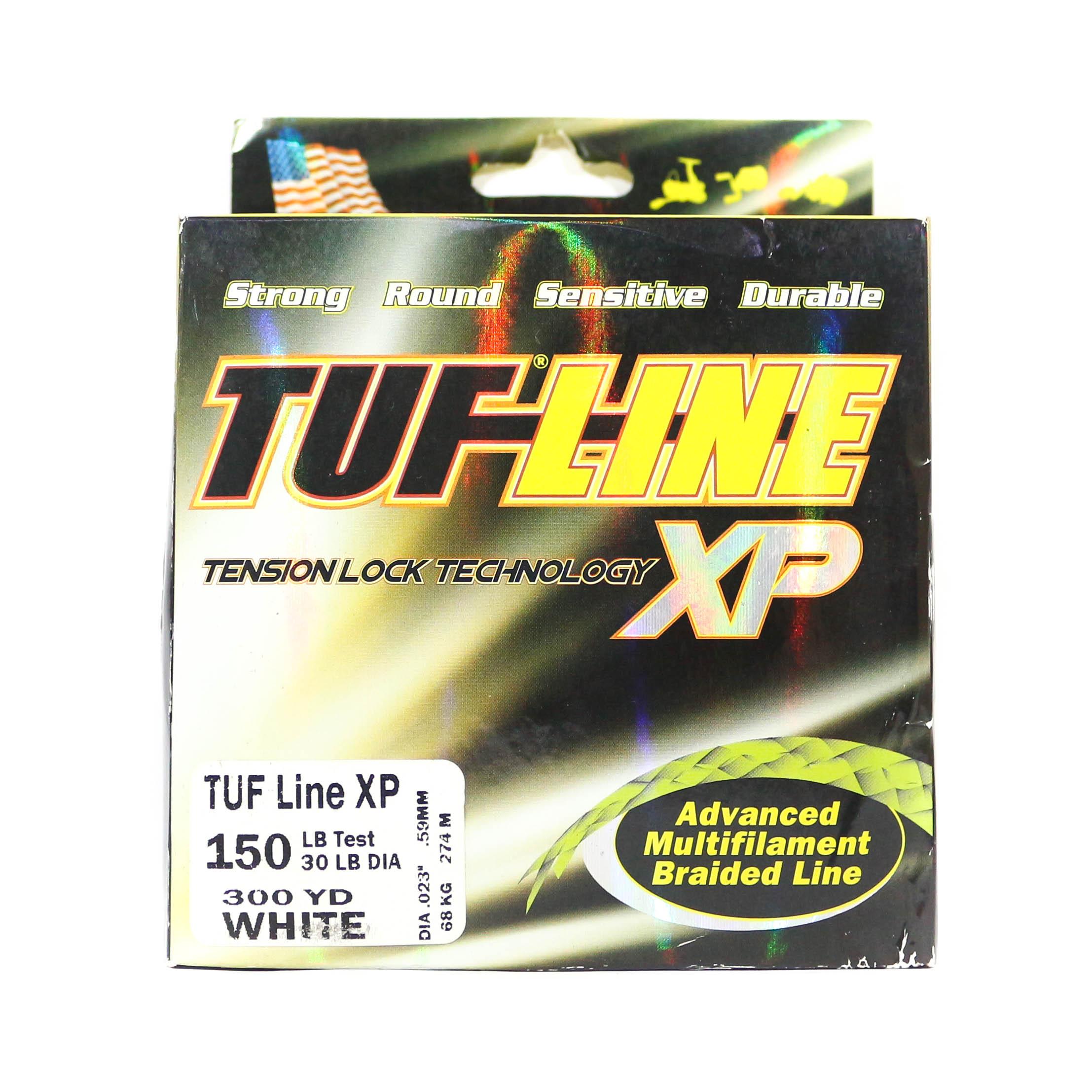 Sale Tuf Line XP Braided Spectra Line Tuff 150lb 300yds White (1229)