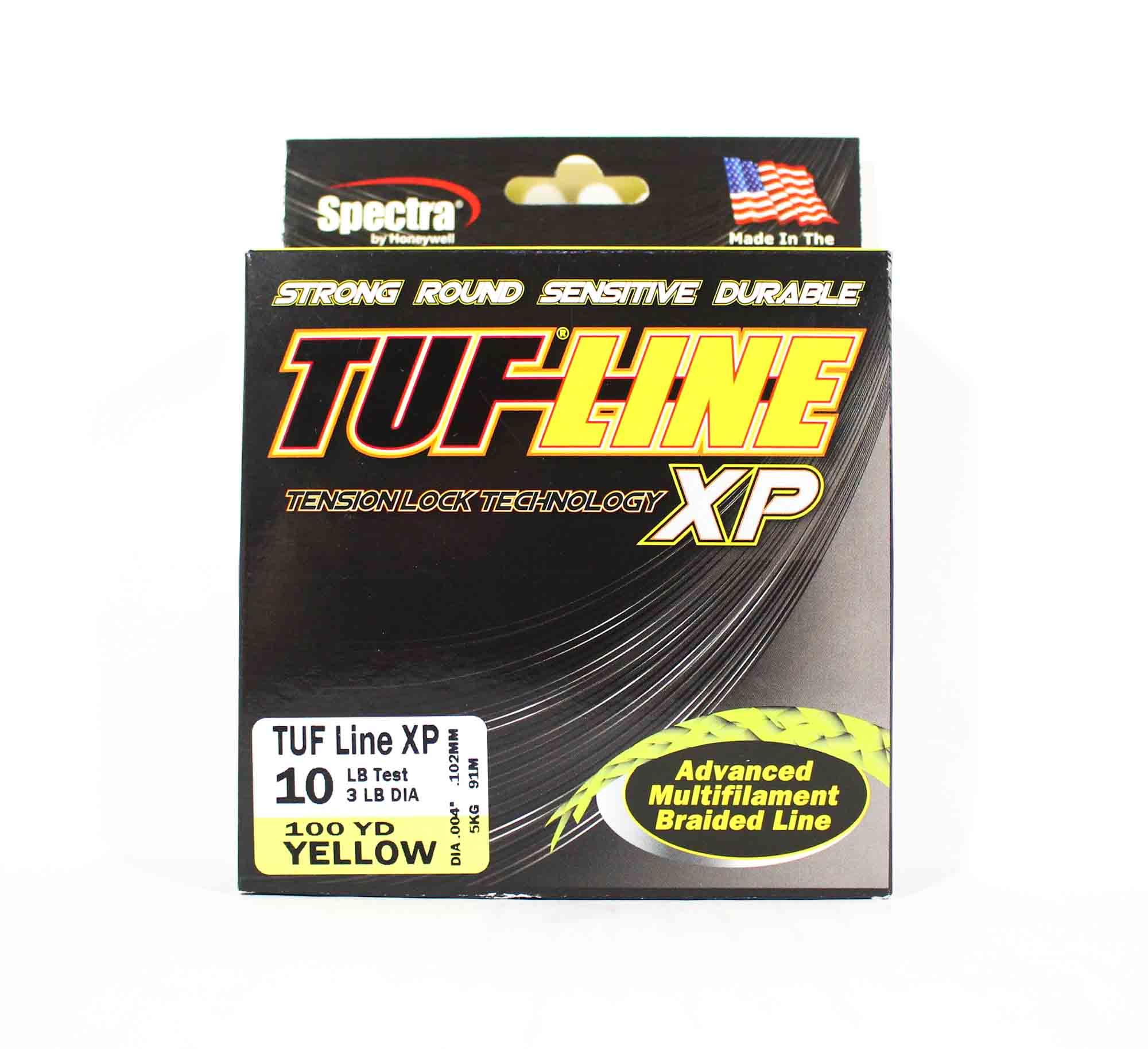 Sale Tuf Line XP Braided Spectra Line Tuff 10lb 100yds Yellow (1095)