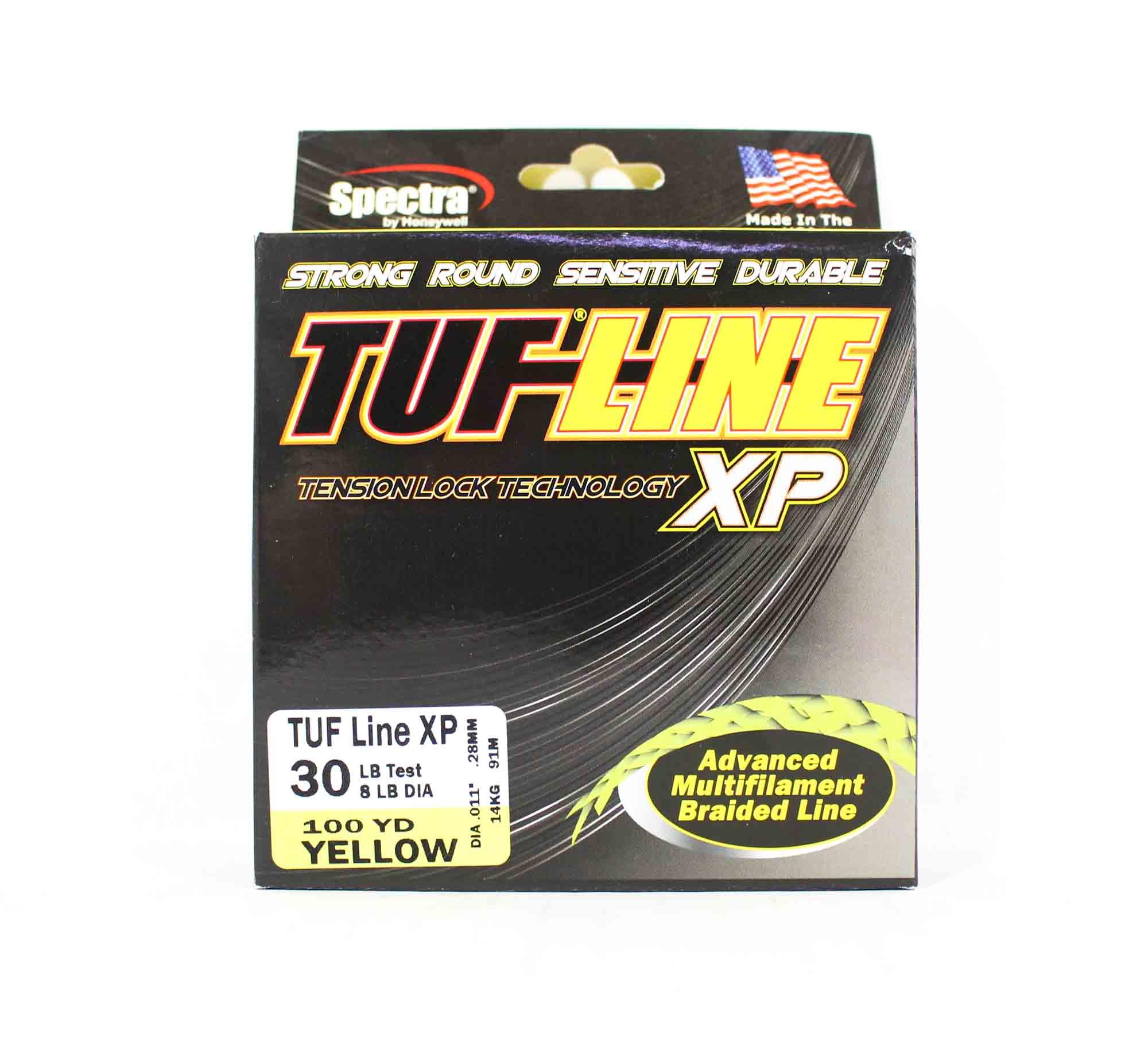 Sale Tuf Line XP Braided Spectra Line Tuff 30lb 100yds Yellow (1097)