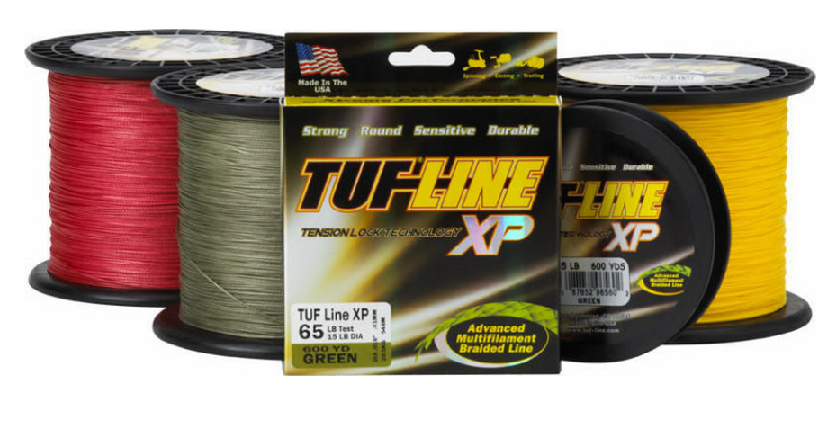 Sale Tuf Line XP Braided Spectra Line Tuff 10lb 1200yds Green (1129)