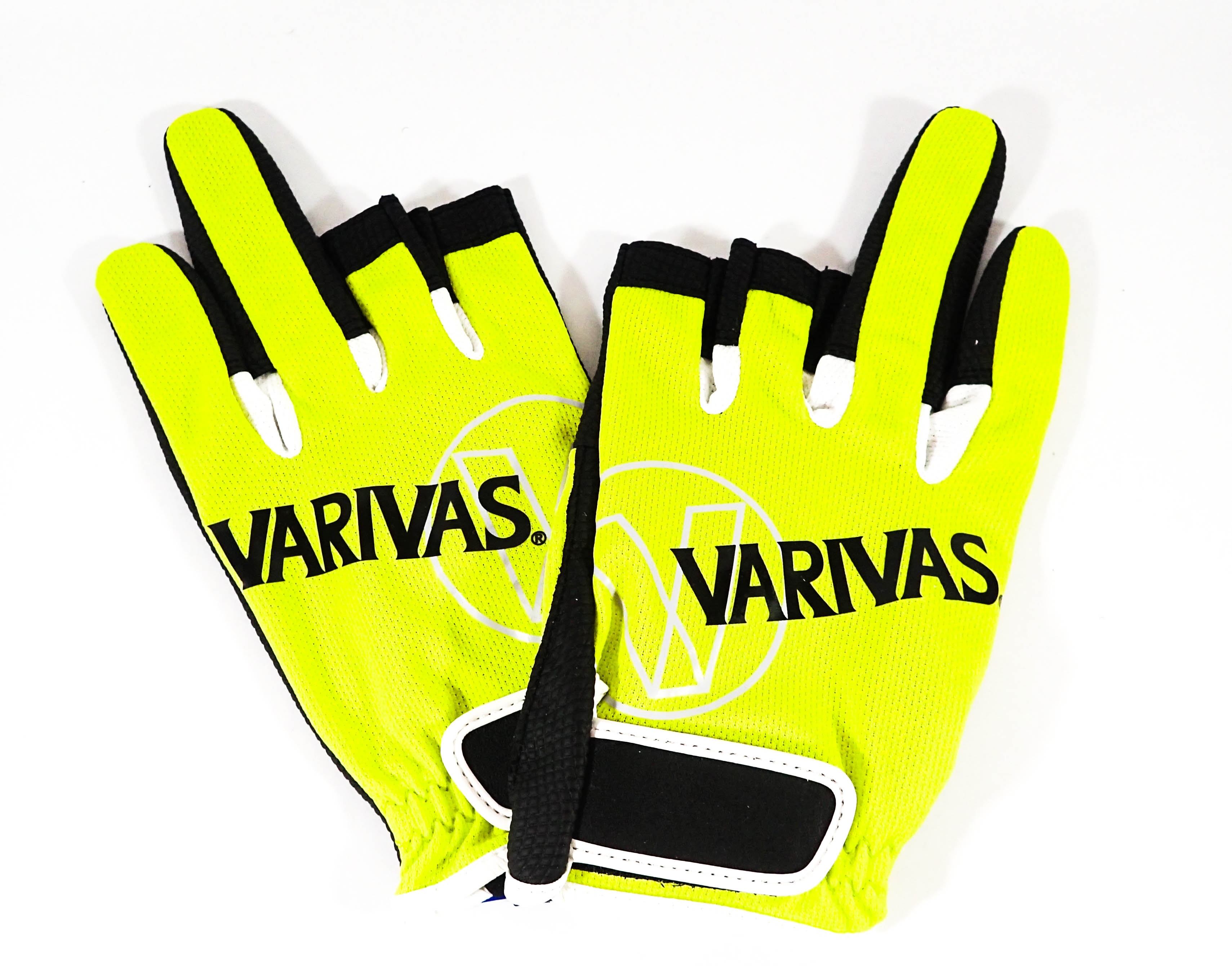 Varivas VAG-12 Mesh Gloves Type 3 Lime Size LL (7608)