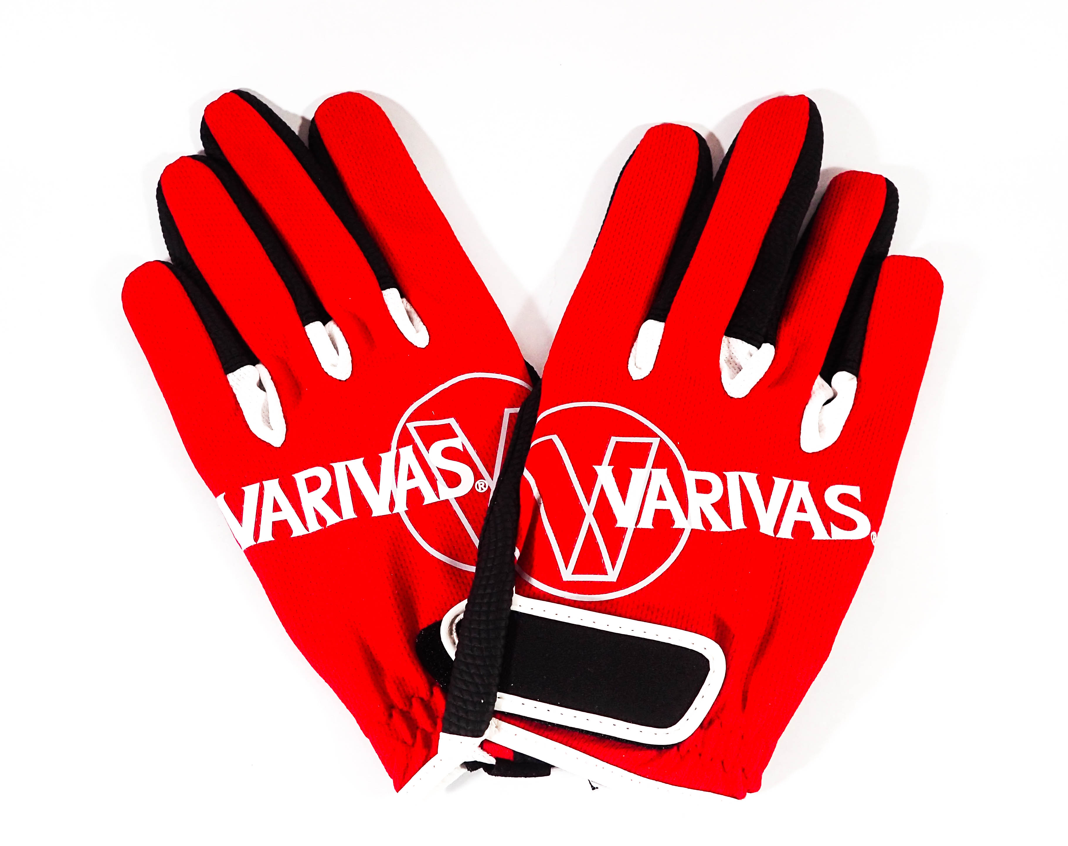 Sale Varivas VAG-13 Mesh Gloves Full Type Red Size L (7776)