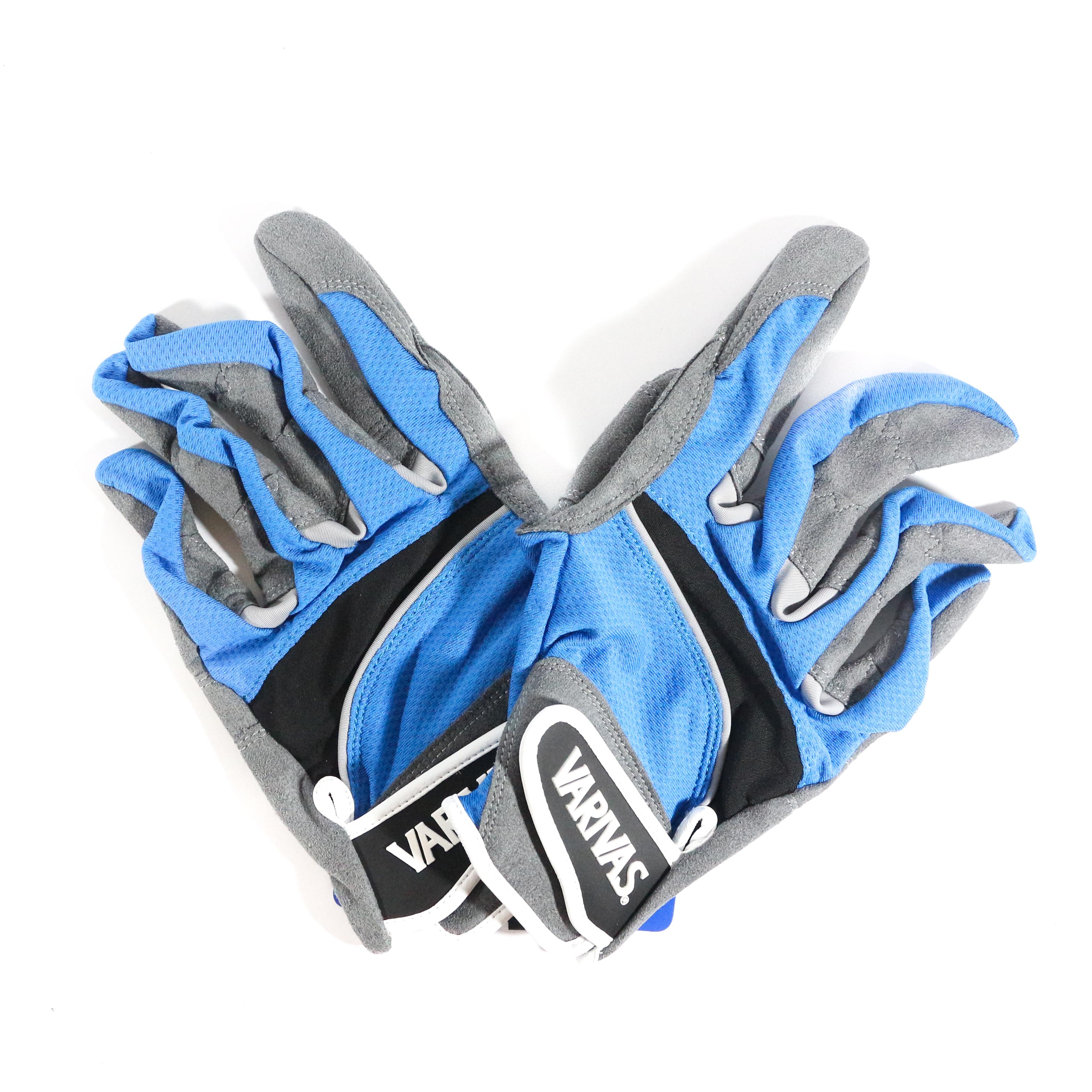 Varivas VAG-20 Mesh Gloves Ergo Grip Blue Size L (0535)