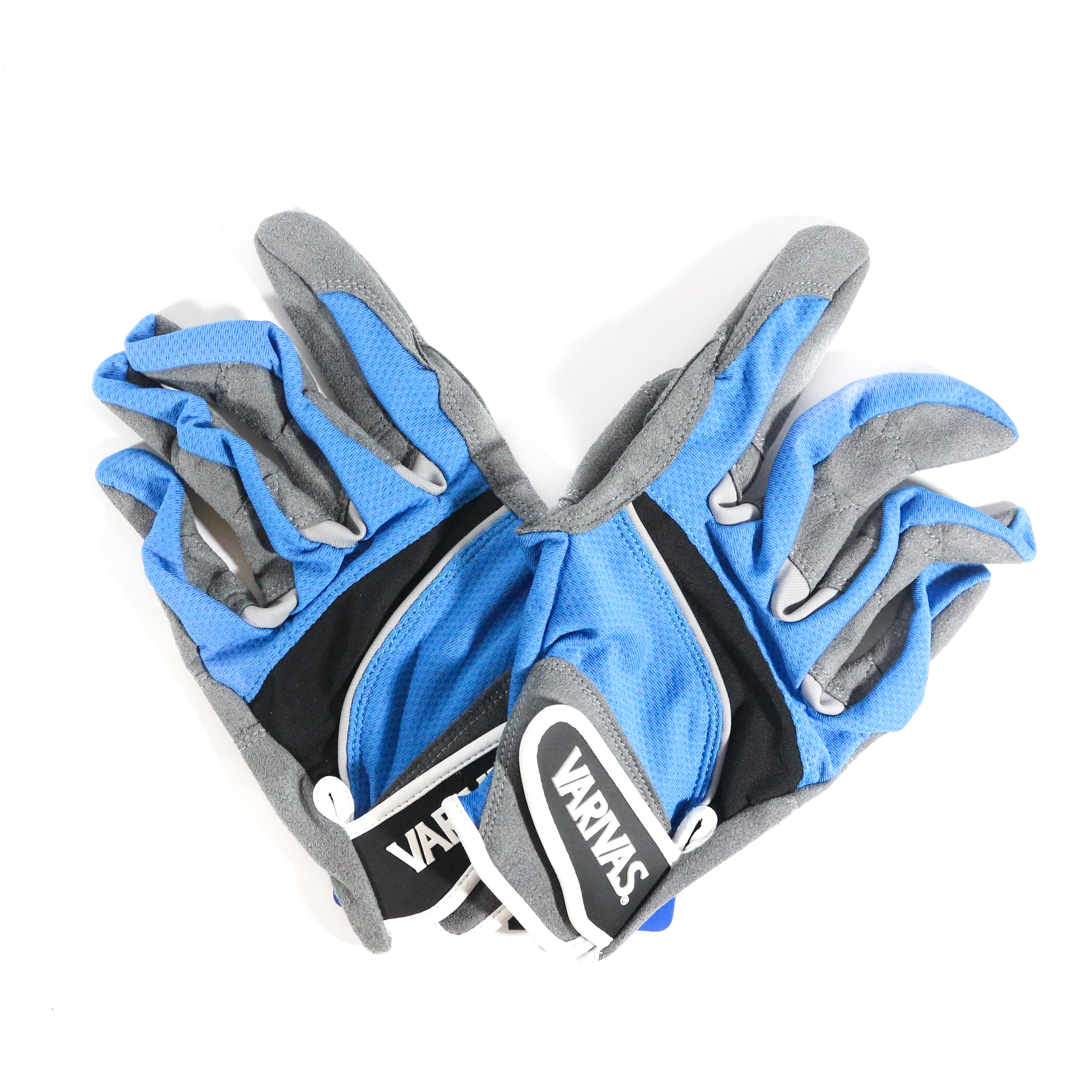 Varivas VAG-20 Mesh Gloves Ergo Grip Blue Size LL (0542)