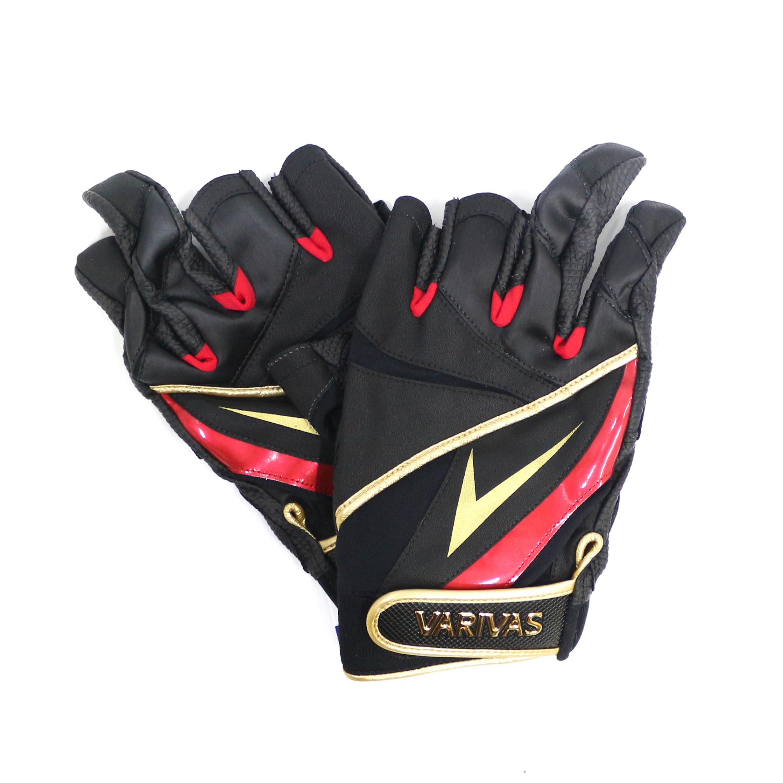 Varivas VAG-22 Mesh Gloves Ergo Grip 3 Fingerless Black Size M (6957)
