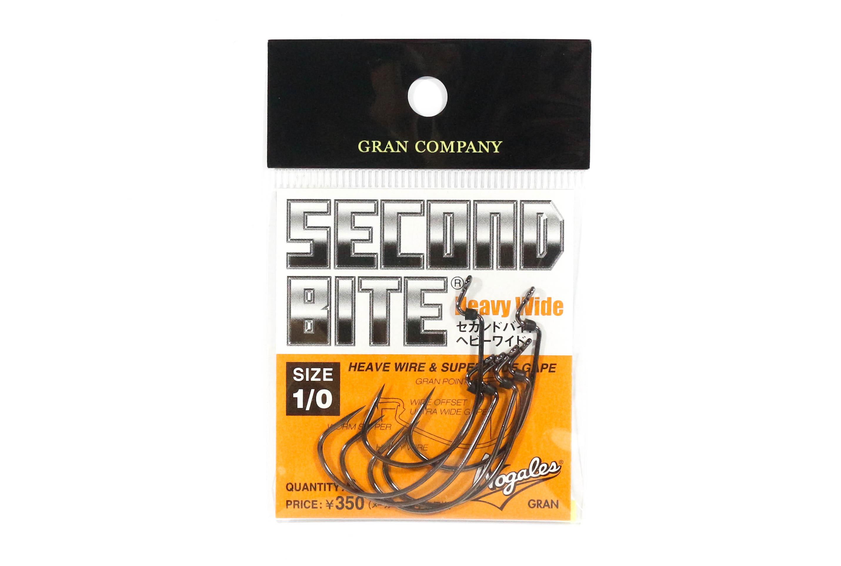 Sale Varivas Hooking Master Worm Hook Second Bite Heavy Wide Size 1/0 (6802)