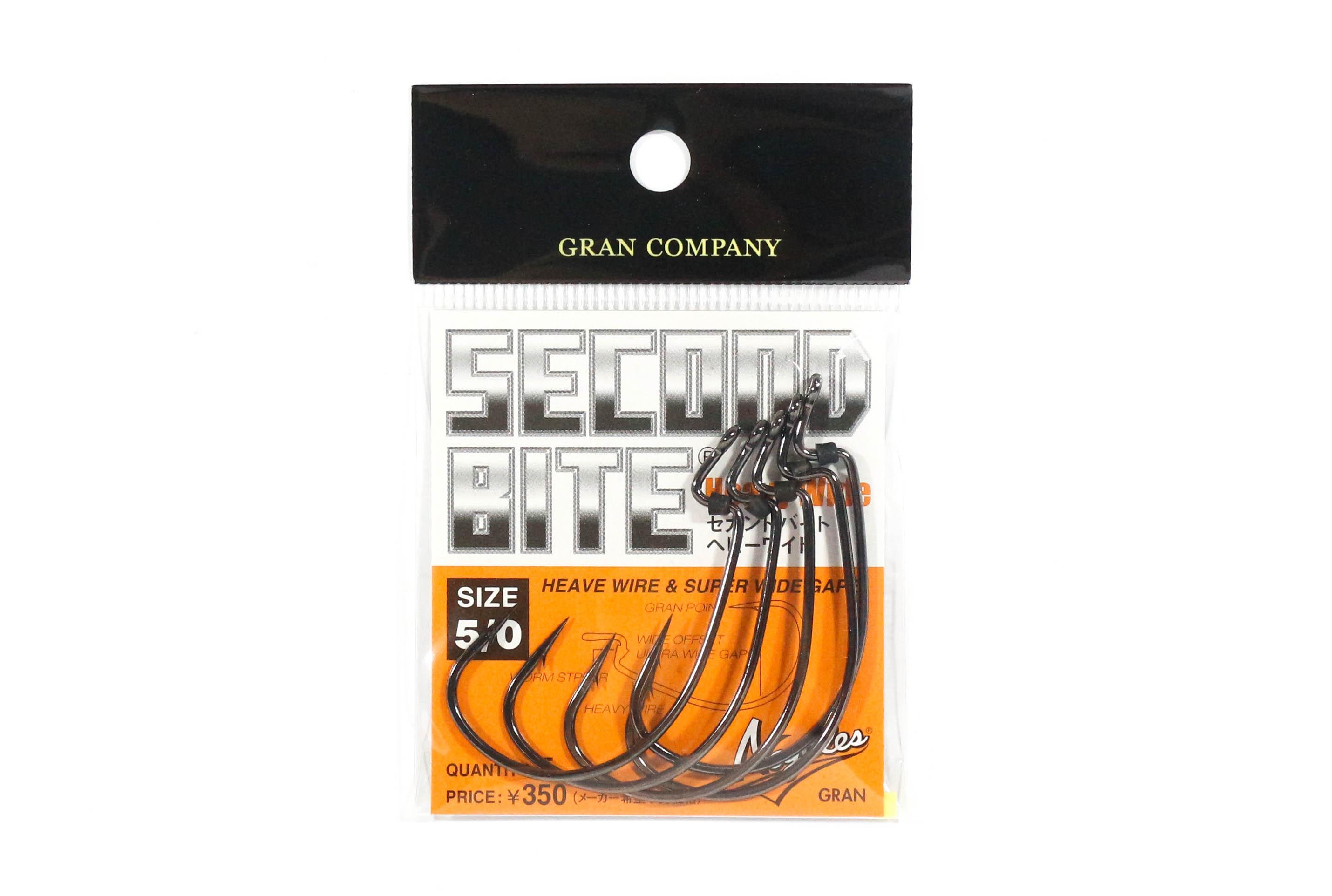 Sale Varivas Hooking Master Worm Hook Second Bite Heavy Wide Size 5/0 (6840)