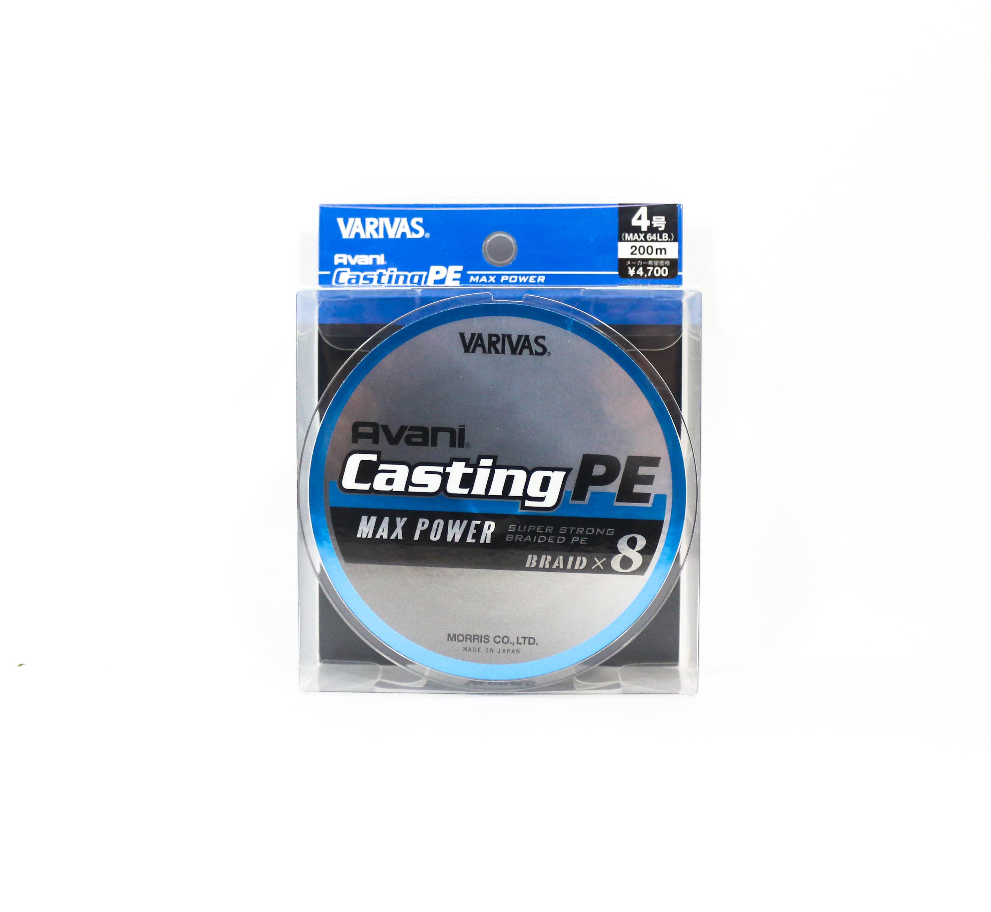 Sale Varivas P.E Line New Avani Max Power Casting 200m P.E 4 64lb (9528)