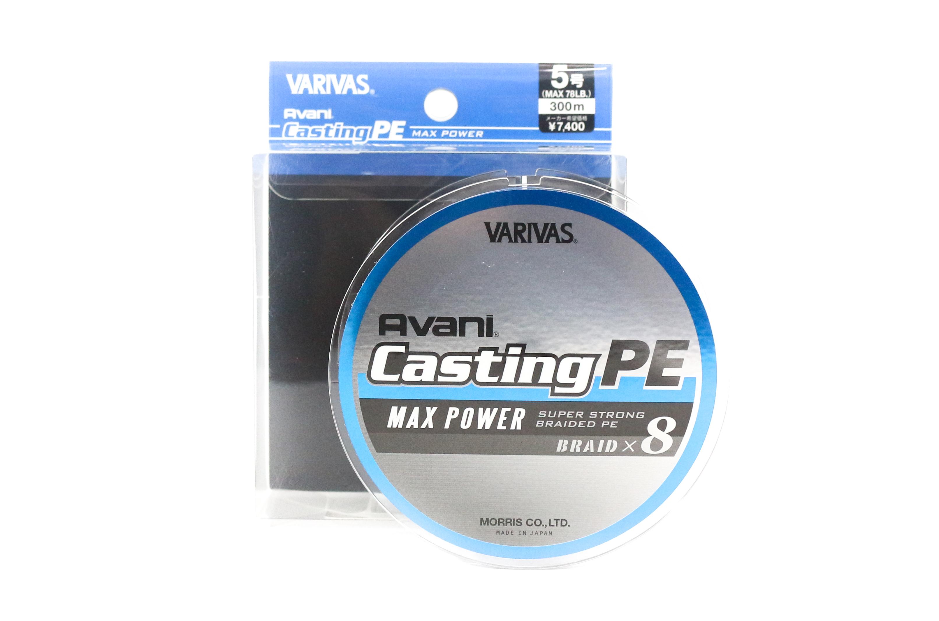 Sale Varivas P.E Line New Avani Max Power Casting 300m P.E 5 78lb (9610)
