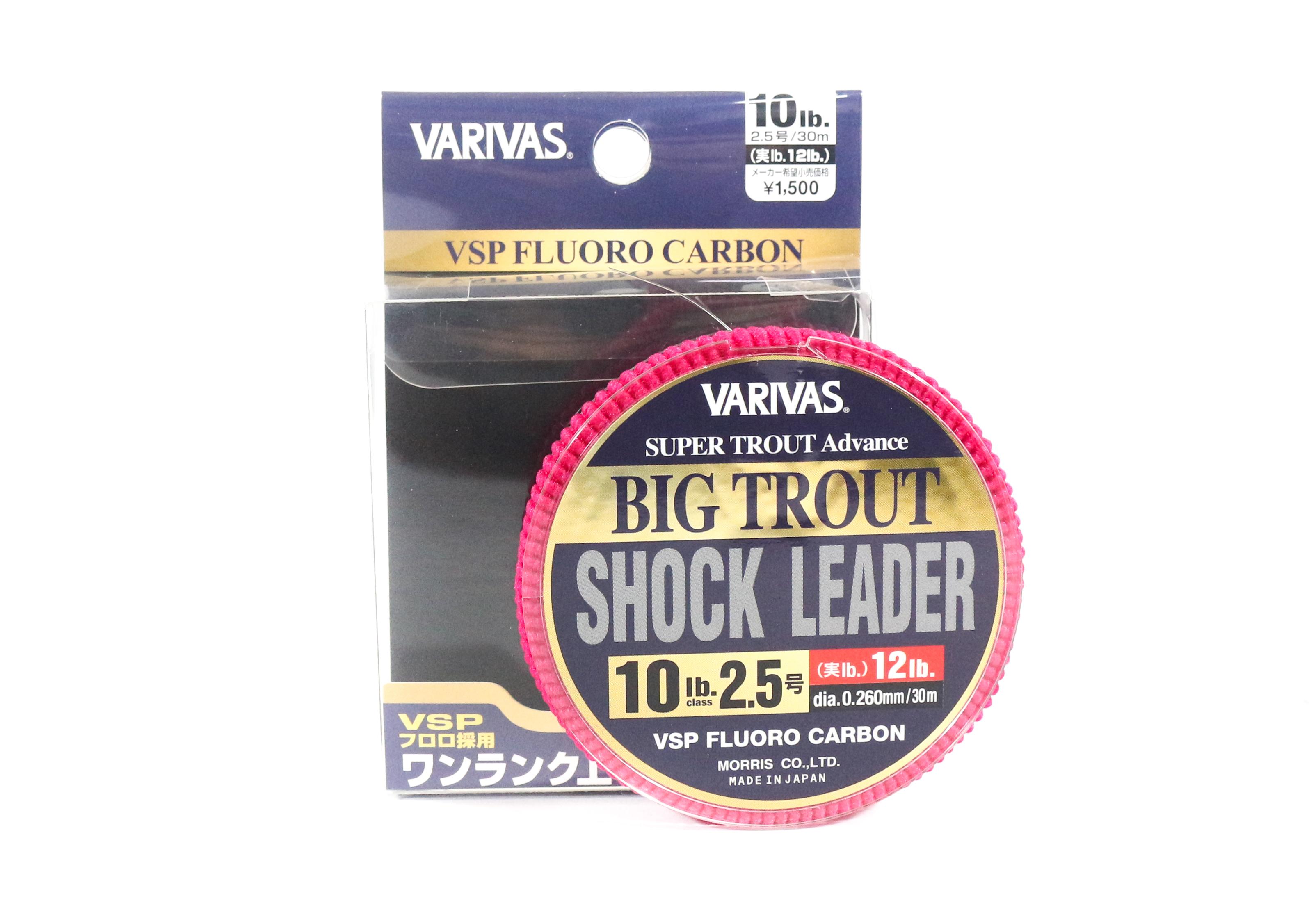 Varivas Fluorocarbon Big Trout Shock Leader Line 30m 10lb (5566)
