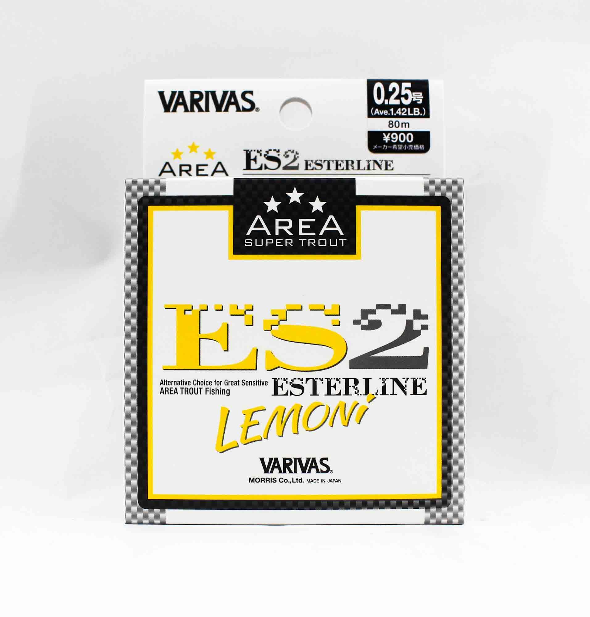 Varivas Ester Line Trout Area ES2 Lemon 80m 0.25, 1.42lb (5300)