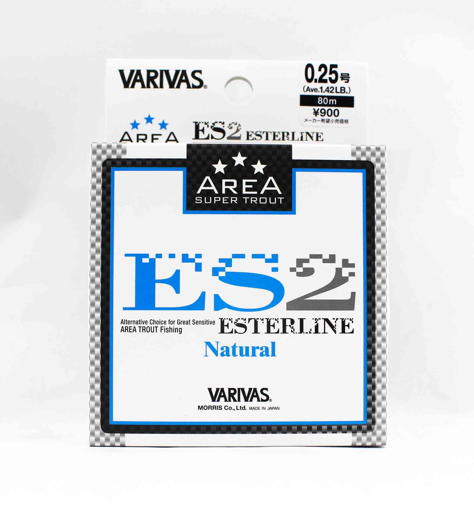 Varivas Ester Line Trout Area ES2 Natural 80m 0.25, 1.42lb (5270)