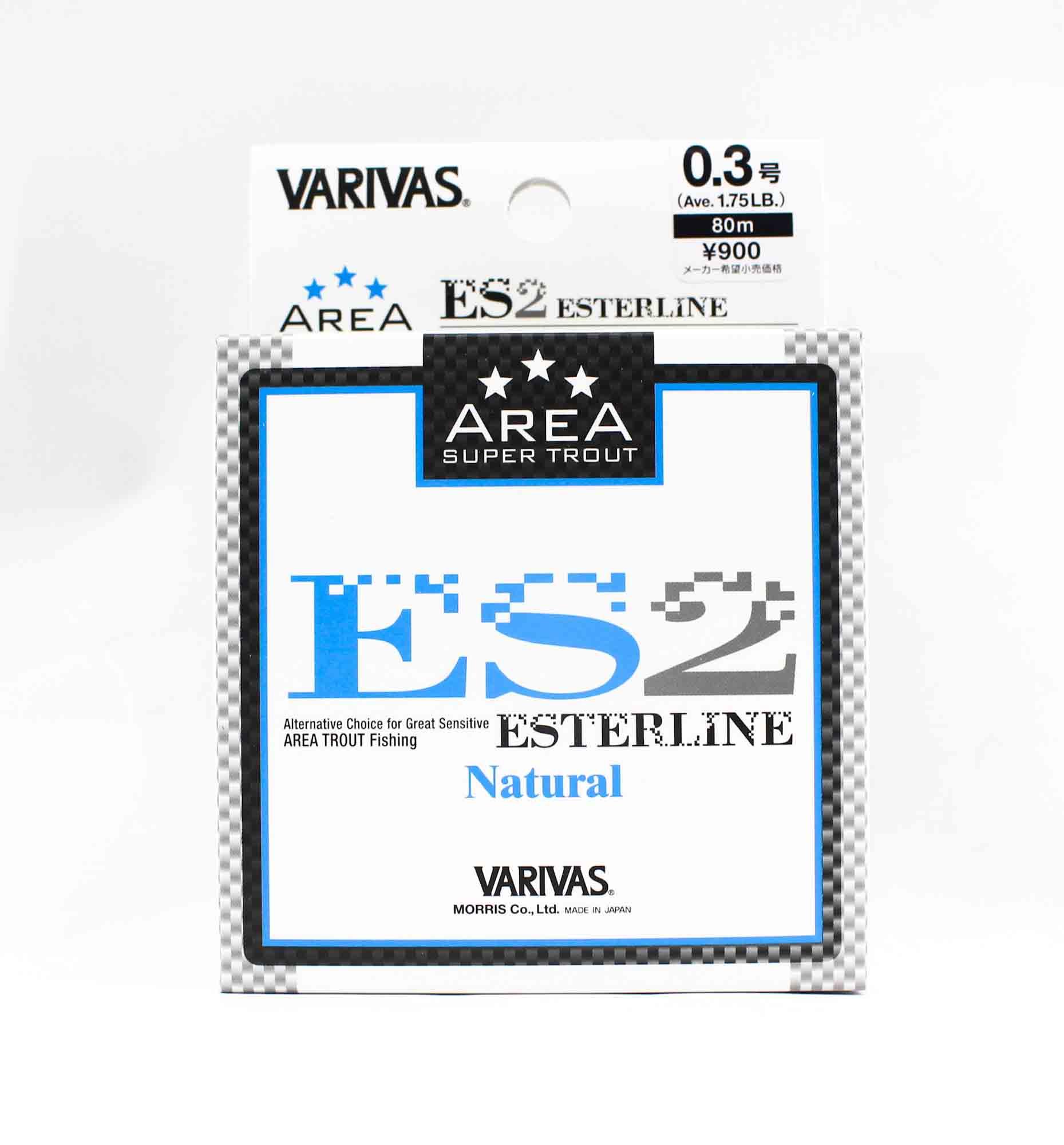 Varivas Ester Line Trout Area ES2 Natural 80m 0.3, 1.75lb (5287)