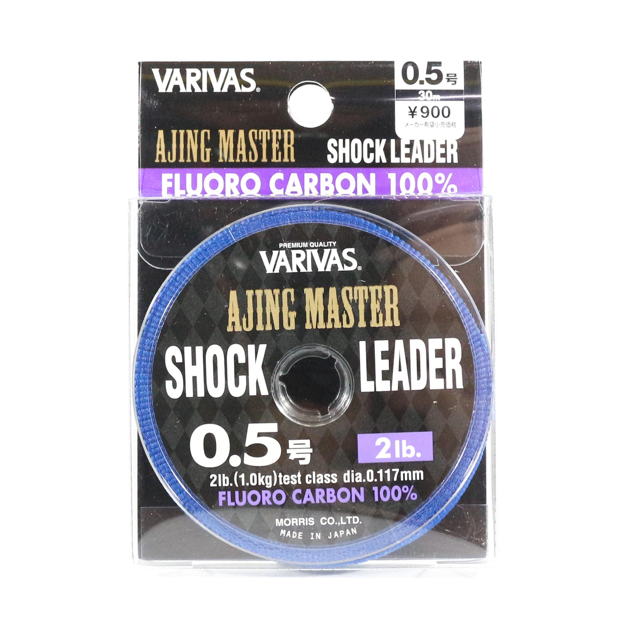 Varivas Fluorocarbon Ajing Master Shock Leader Line 30m 0.5, 2lb (8583)