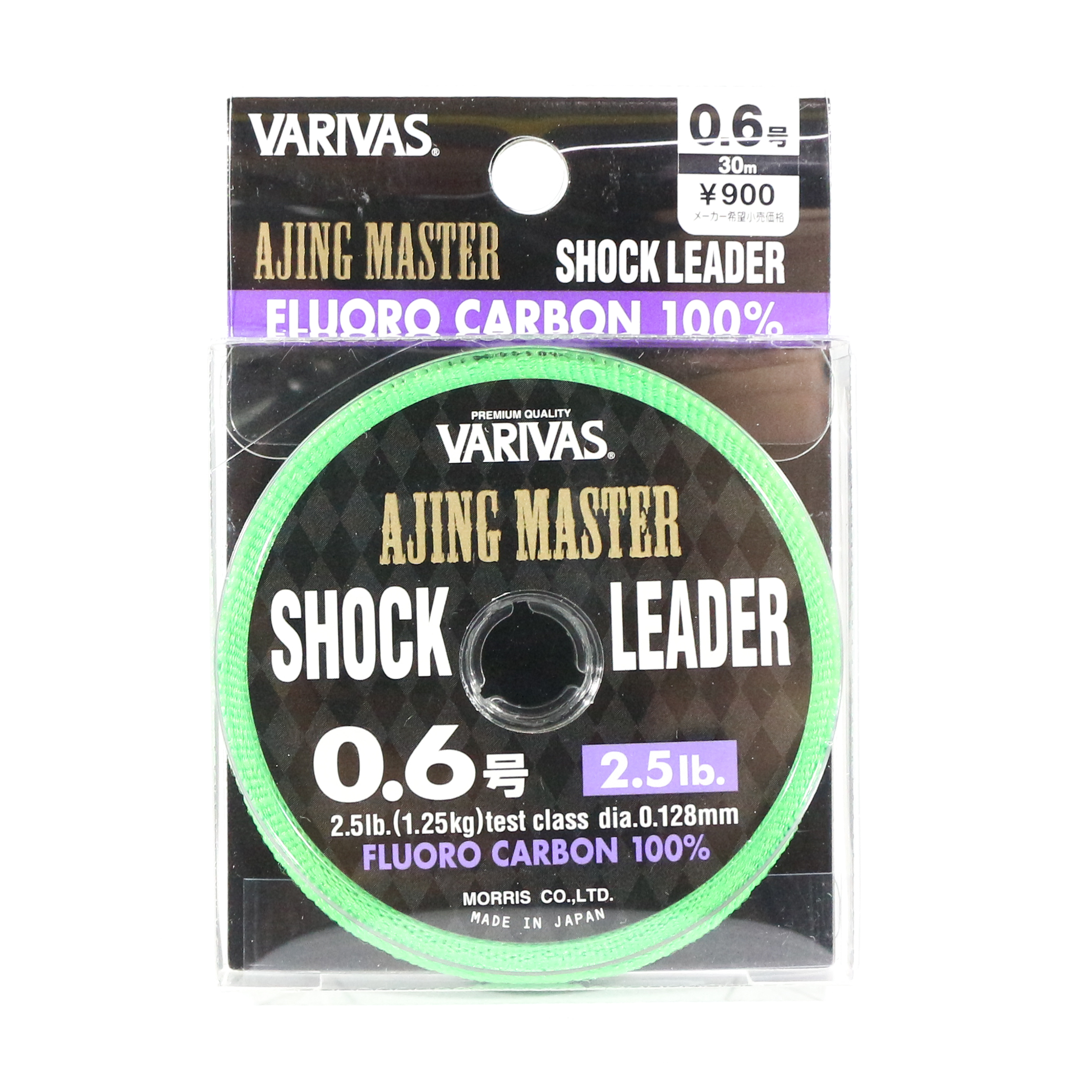 Varivas Fluorocarbon Ajing Master Shock Leader Line 30m 0.6, 2.5lb (8590)