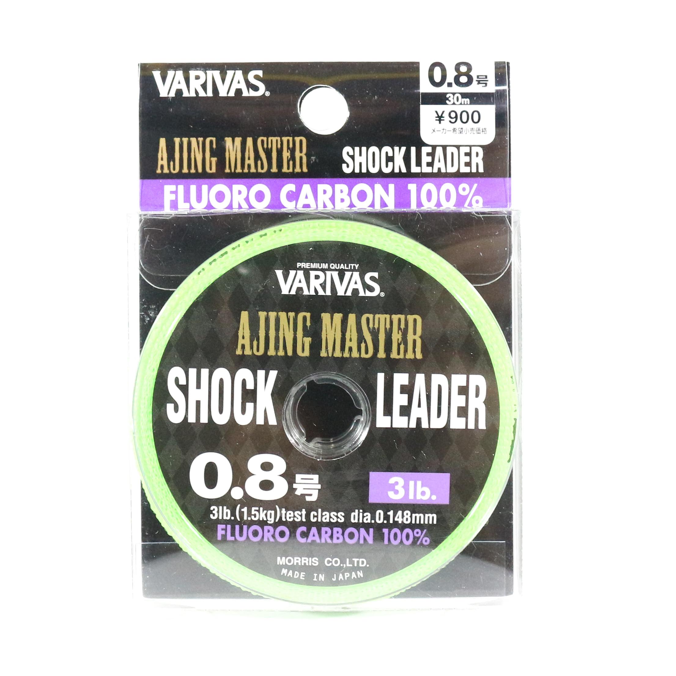 Varivas Fluorocarbon Ajing Master Shock Leader Line 30m 0.8, 3lb (8606)