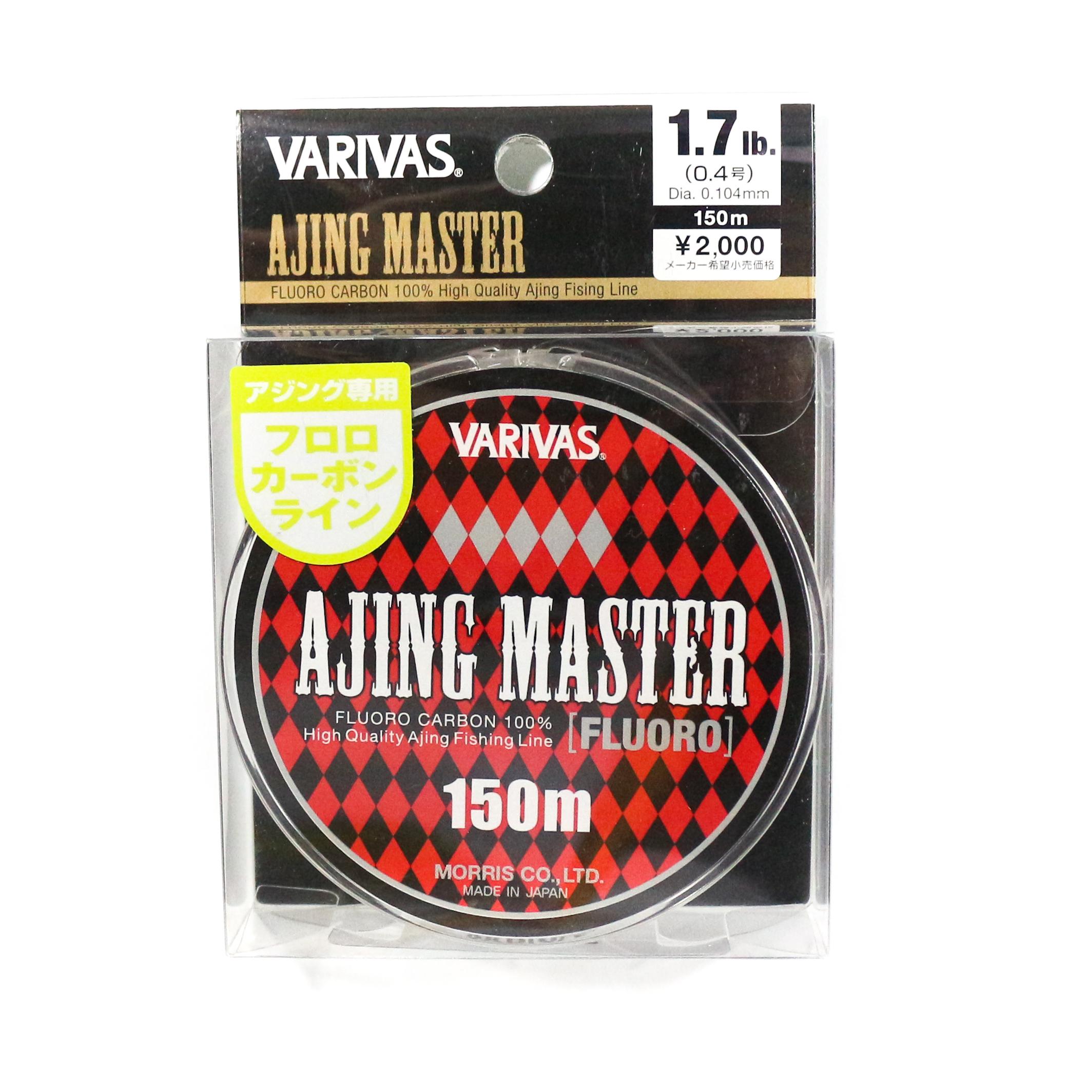Sale Varivas Fluorocarbon Line Ajing Master 150m P.E 0.4, 1.7lb (5154)