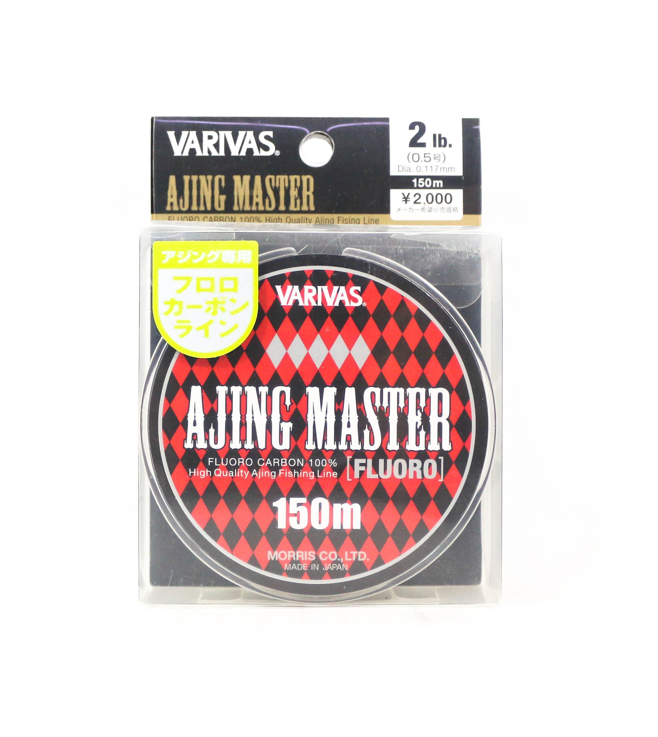 Sale Varivas Fluorocarbon Line Ajing Master 150m P.E 0.5, 2lb (5161)