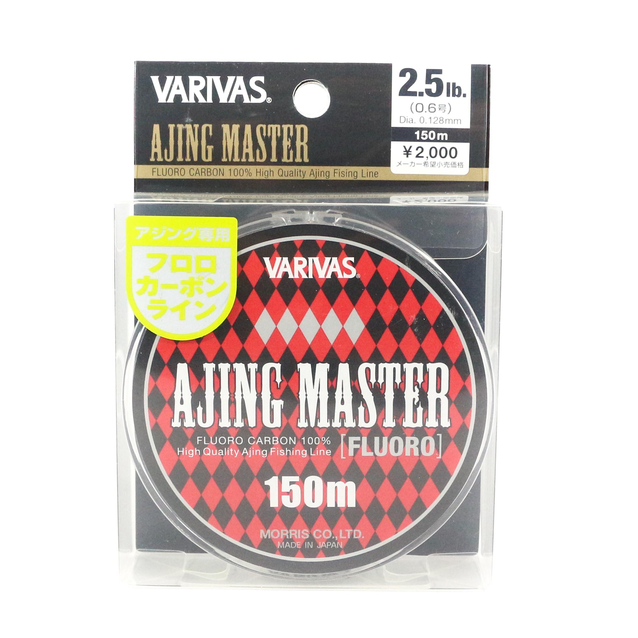 Sale Varivas Fluorocarbon Line Ajing Master 150m P.E 0.6, 2.5lb (5178)