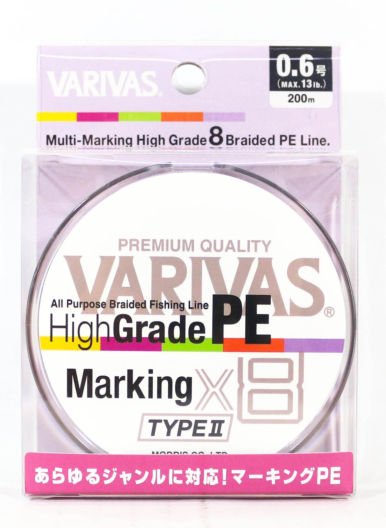 4489 Varivas P.E Line Eging Max Power 150m P.E 0.6 Max 14.5lb Fishing Sporting Goods