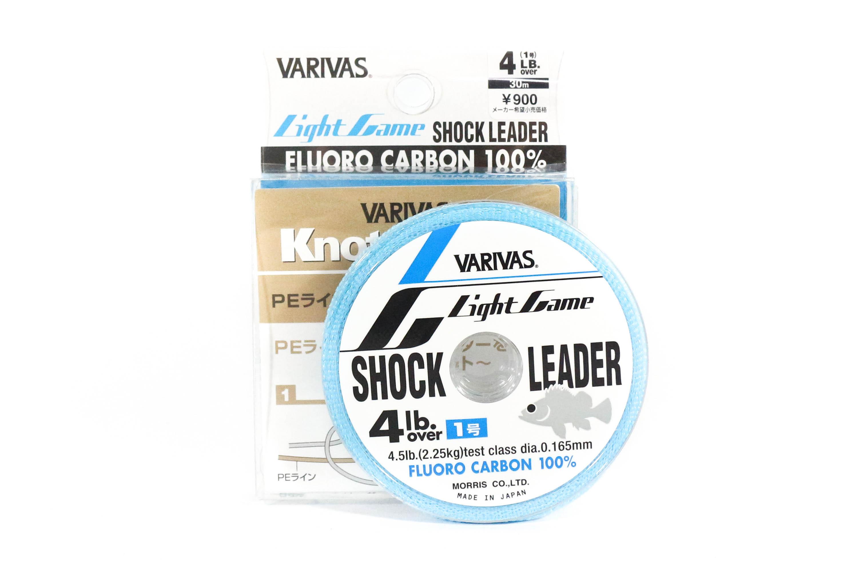 Varivas Fluorocarbon Shock Leader Line Light Game 30m 4lb (9895)