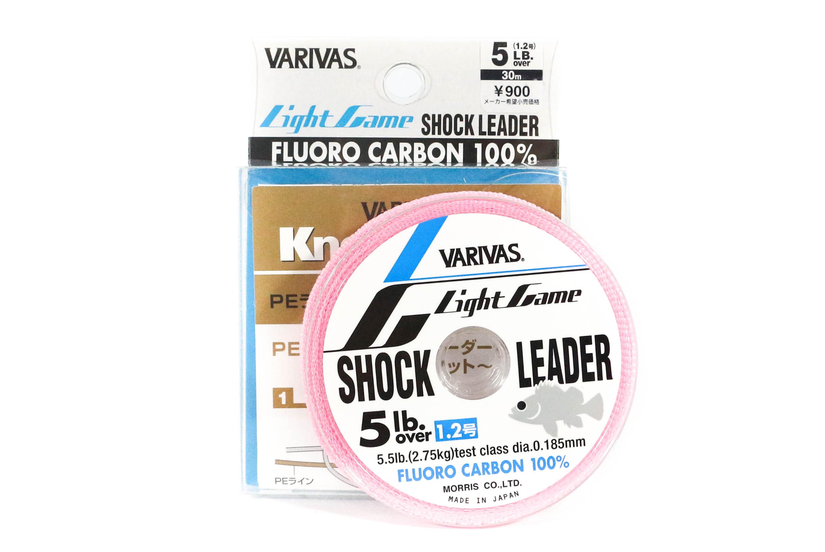 Varivas Fluorocarbon Shock Leader Line Light Game 30m 5lb (9901)